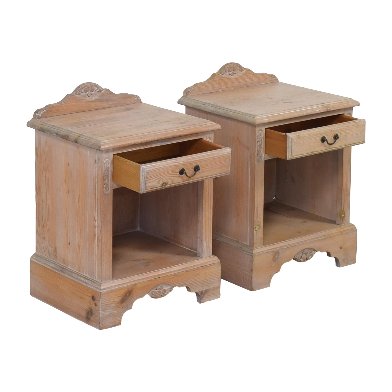 Jaycee Furniture Jaycee Single Drawer Nightstands Gray
