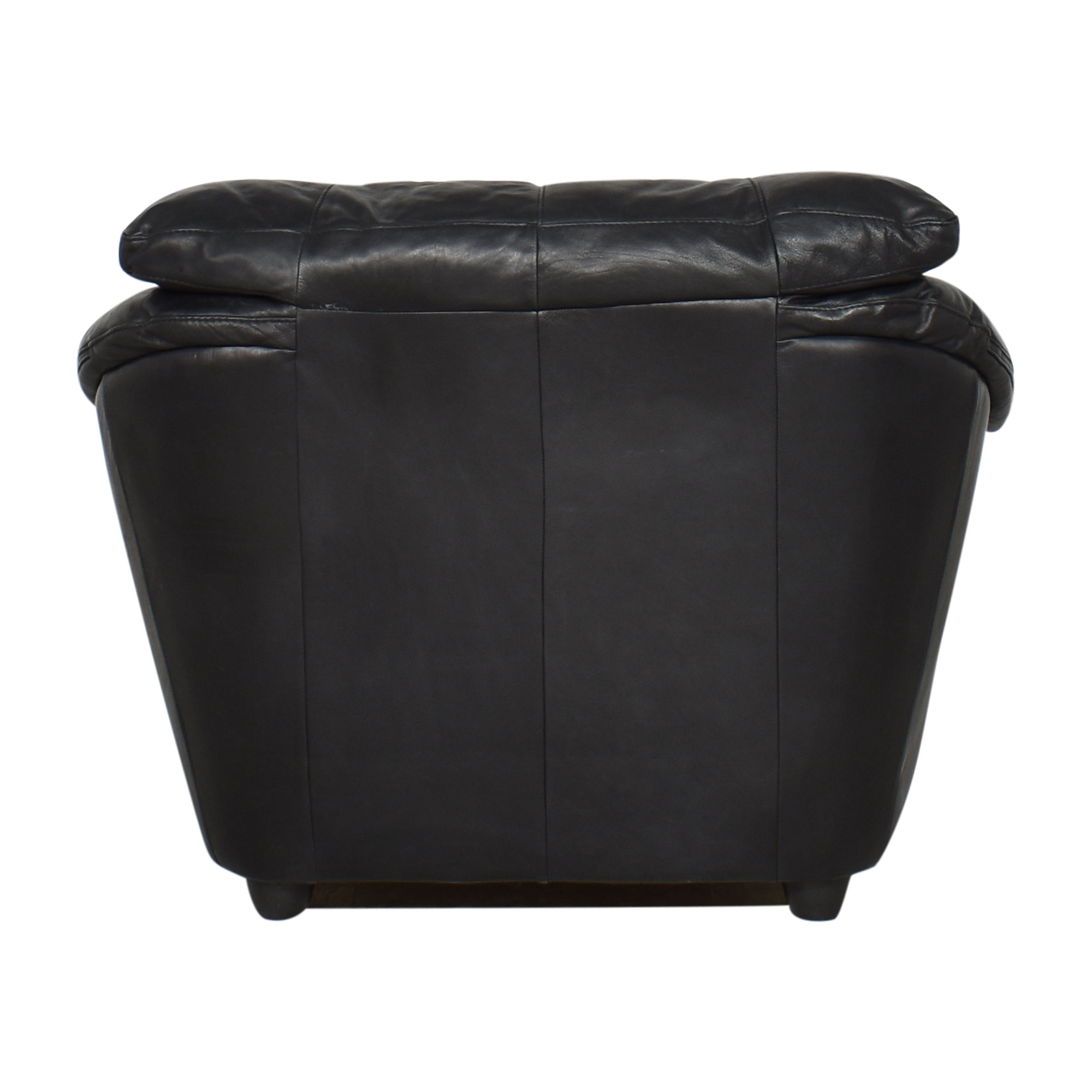 Plush Arm Chair Black