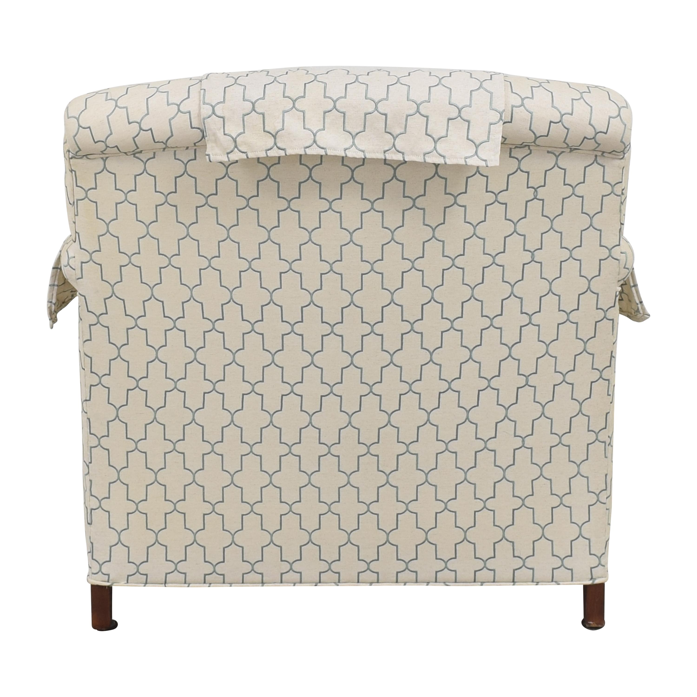 shop Ethan Allen Hamilton Chair with Ottoman Ethan Allen Accent Chairs