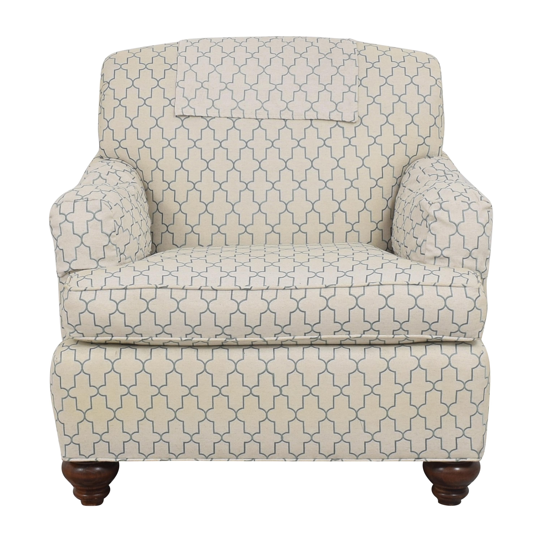 shop Ethan Allen Hamilton Chair with Ottoman Ethan Allen
