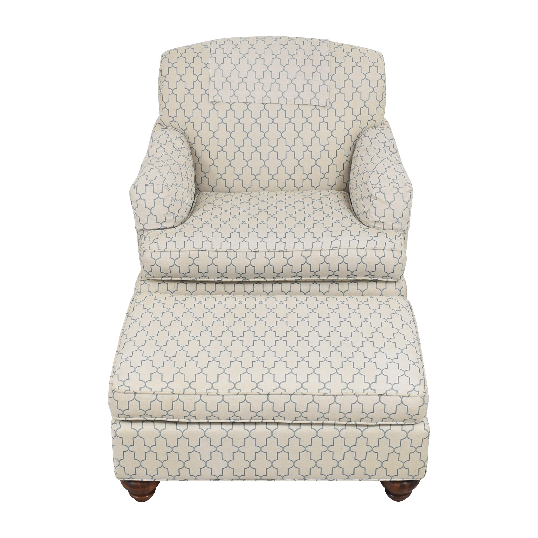 Ethan Allen Ethan Allen Hamilton Chair with Ottoman for sale
