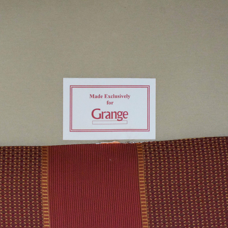 Grange Grange Striped Chair with Ottoman nj