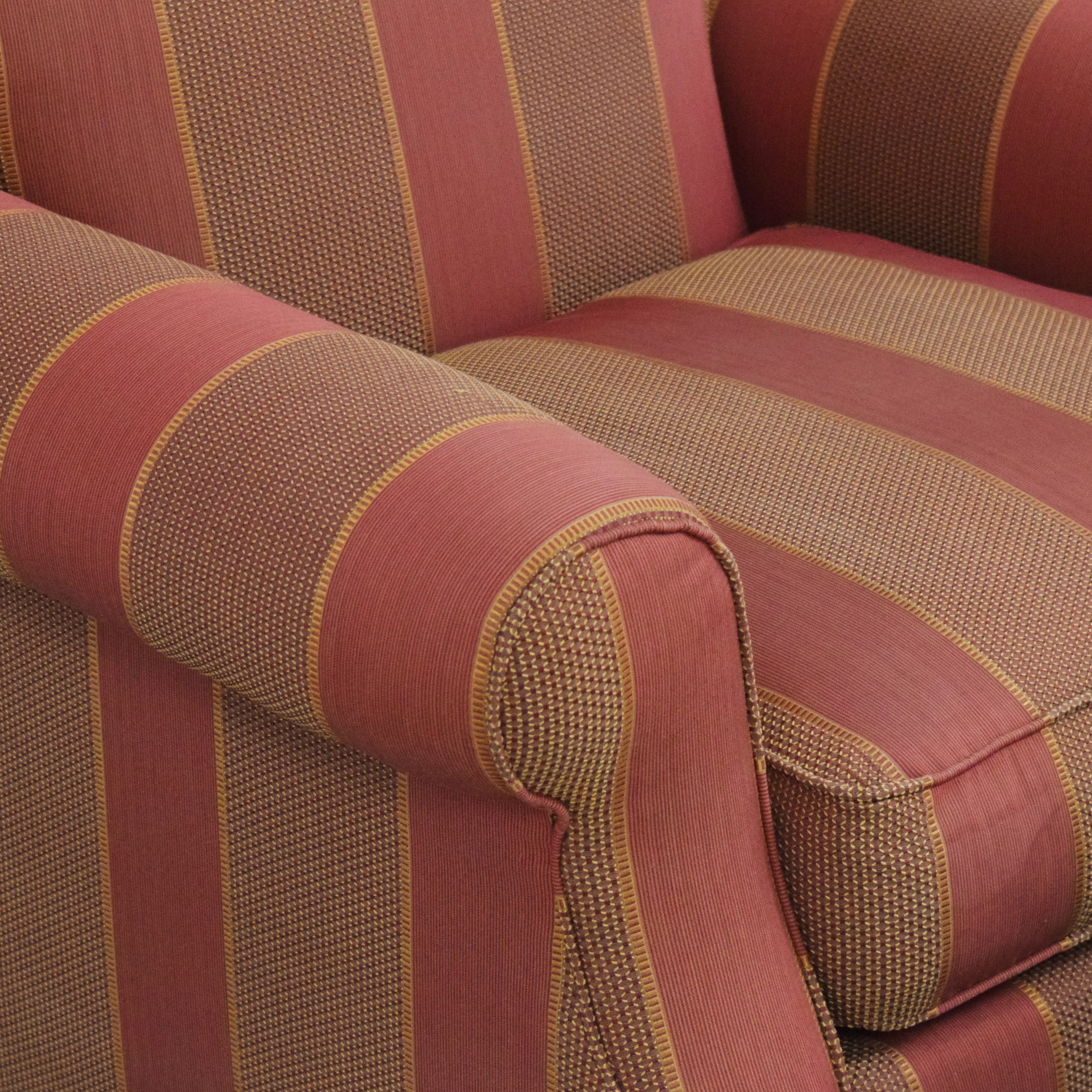 buy Grange Striped Chair with Ottoman Grange Chairs