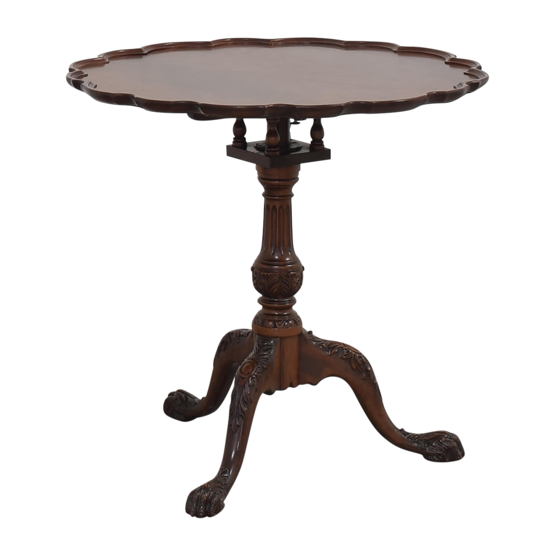 Pie Crust Tilt Top Table on sale