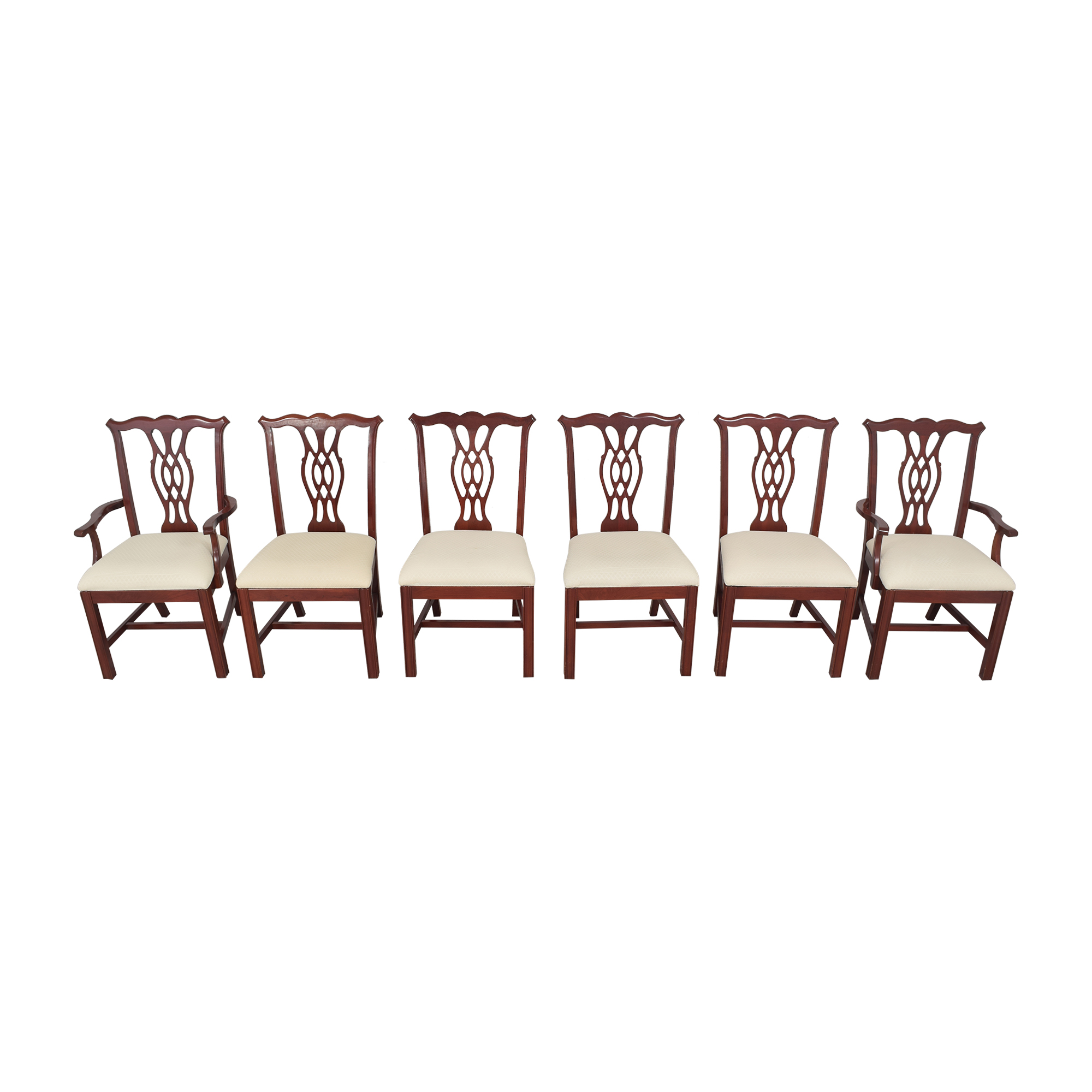 The Colonial Furniture Company The Colonial Furniture Company Chippendale-Style Dining Chairs dimensions