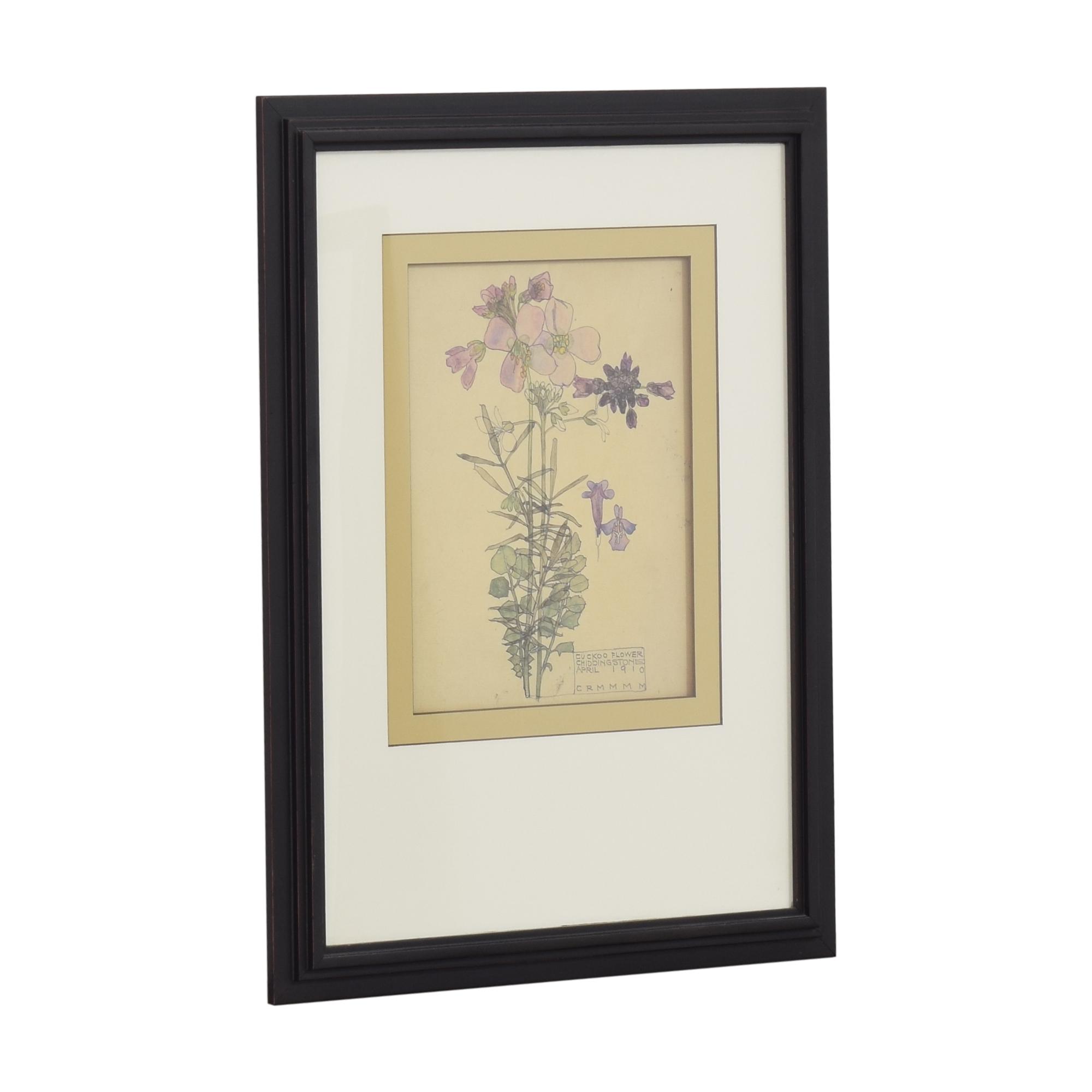Ethan Allen Ethan Allen Cuckoo Flower Wall Art dimensions