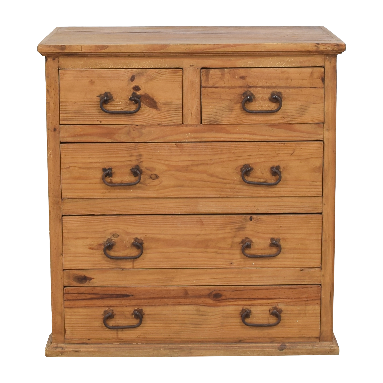 shop Rustic Five Drawer Dresser  Storage