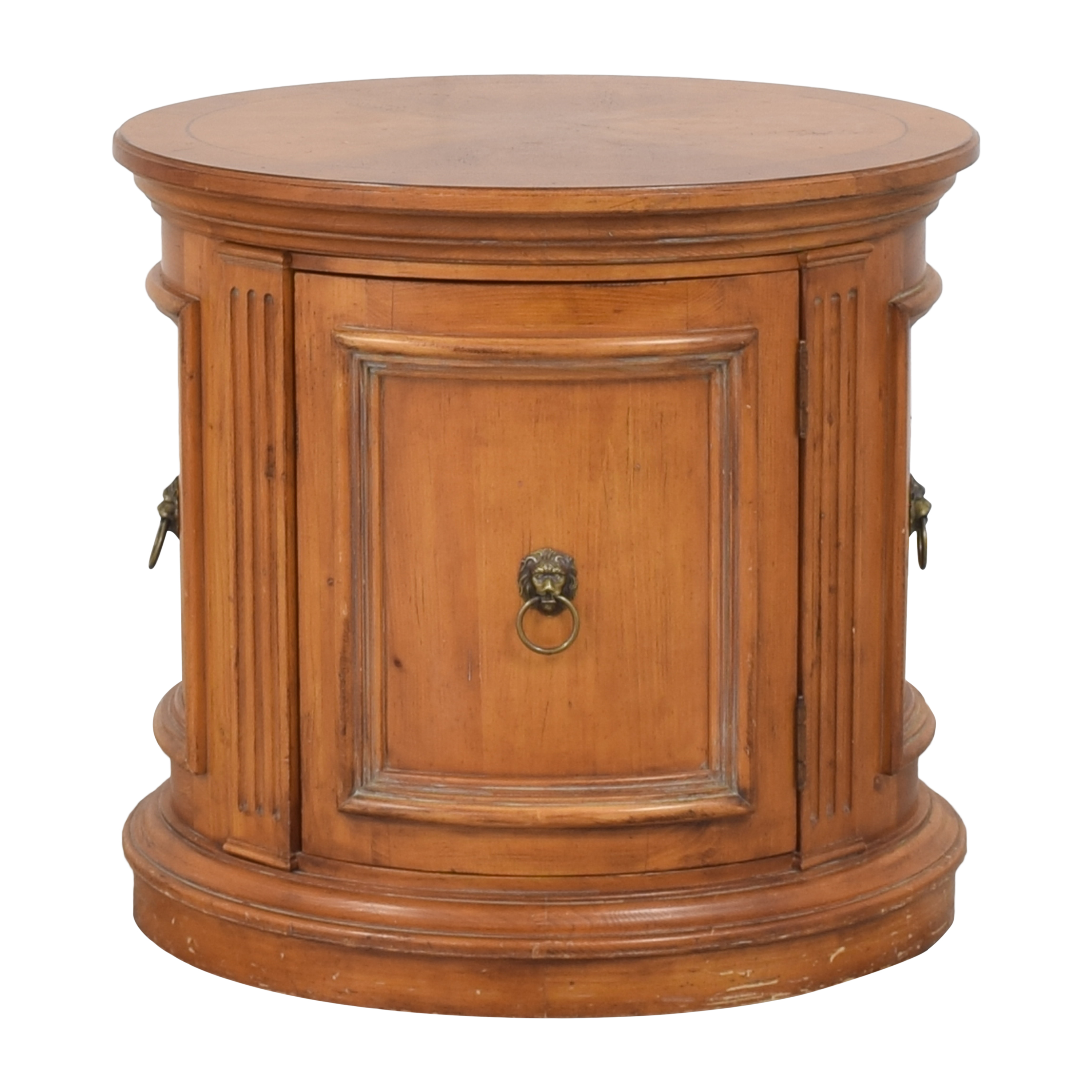 buy Ethan Allen Tuscany Oval Drum End Table Ethan Allen Tables