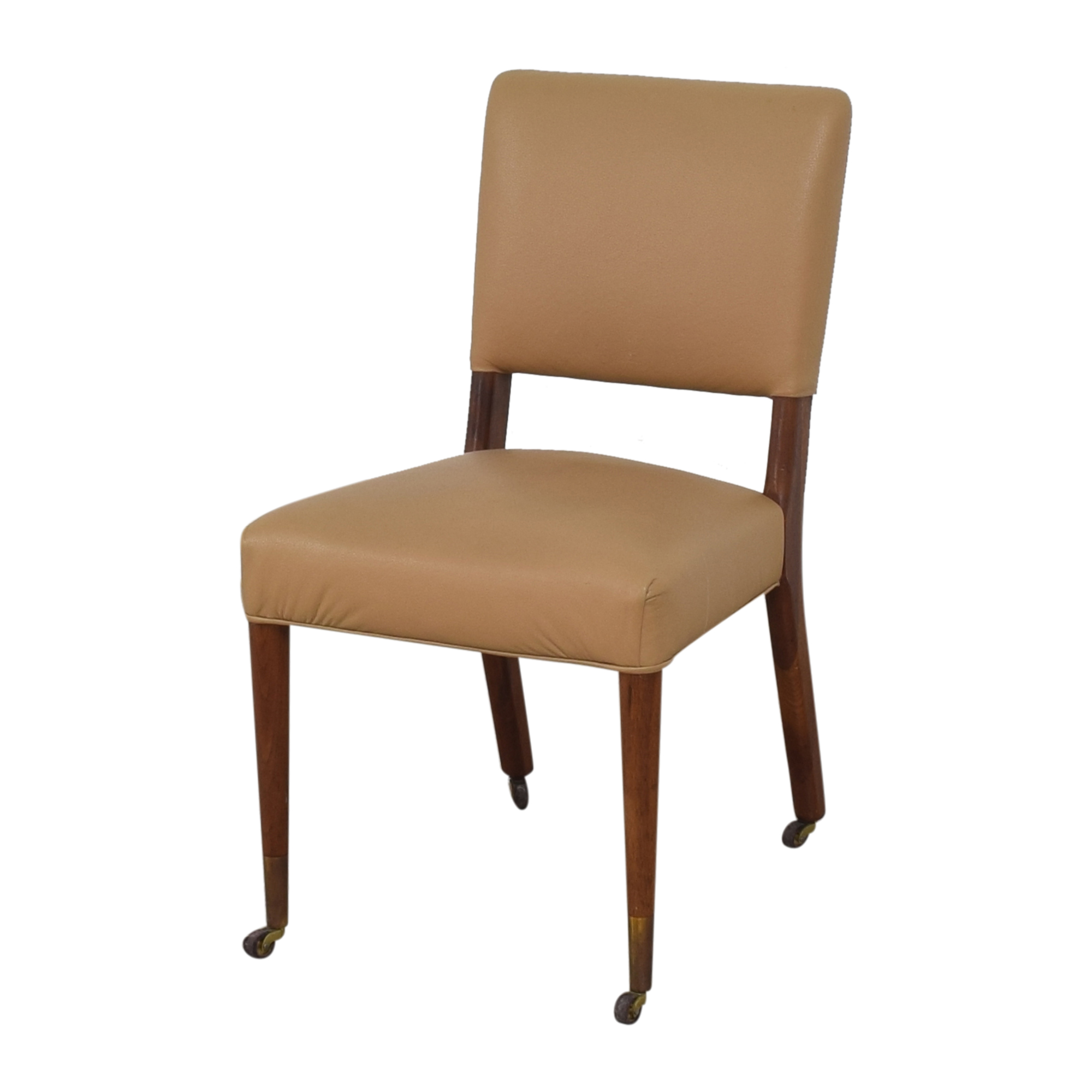Upholstered Dining Chairs on Casters
