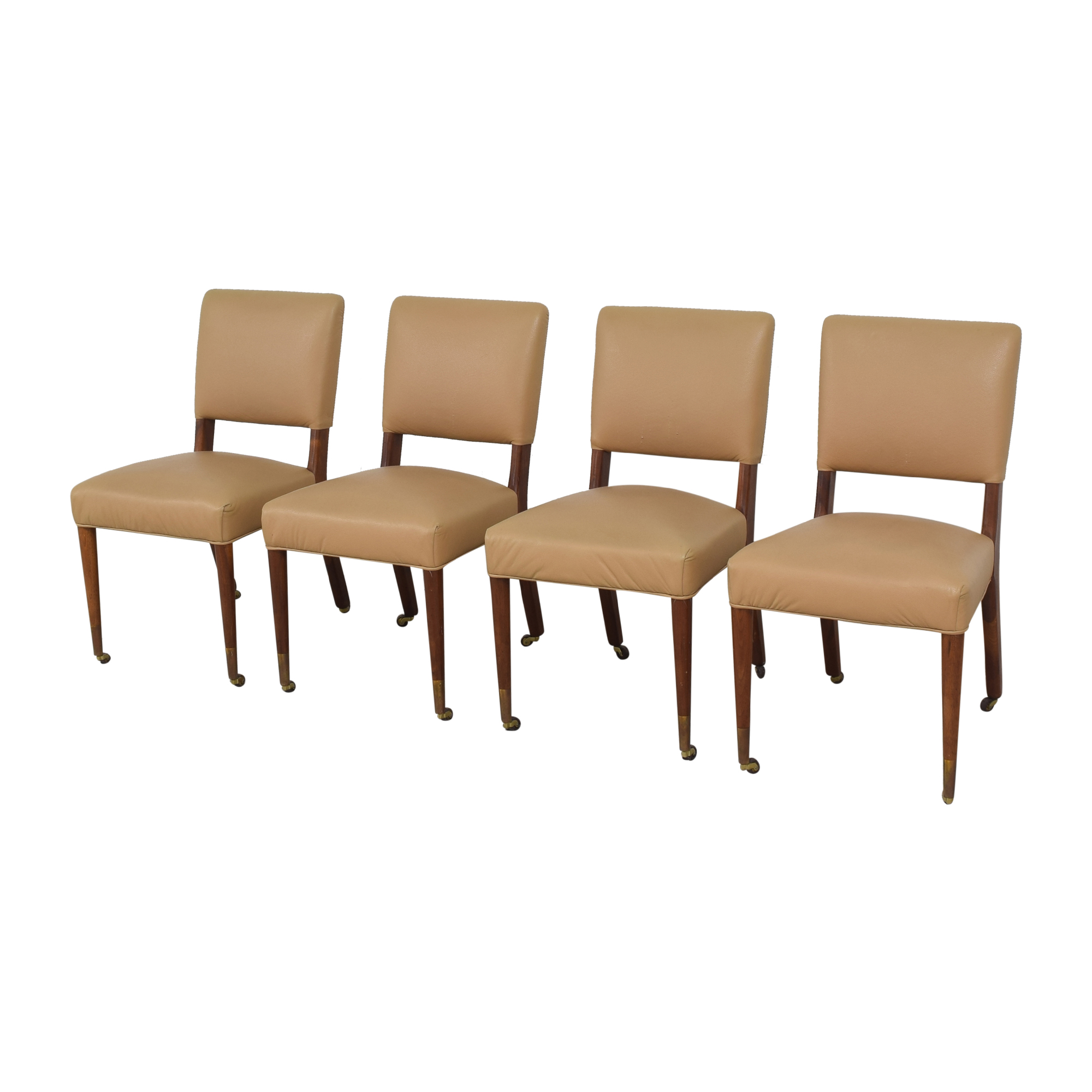 shop Upholstered Dining Chairs on Casters