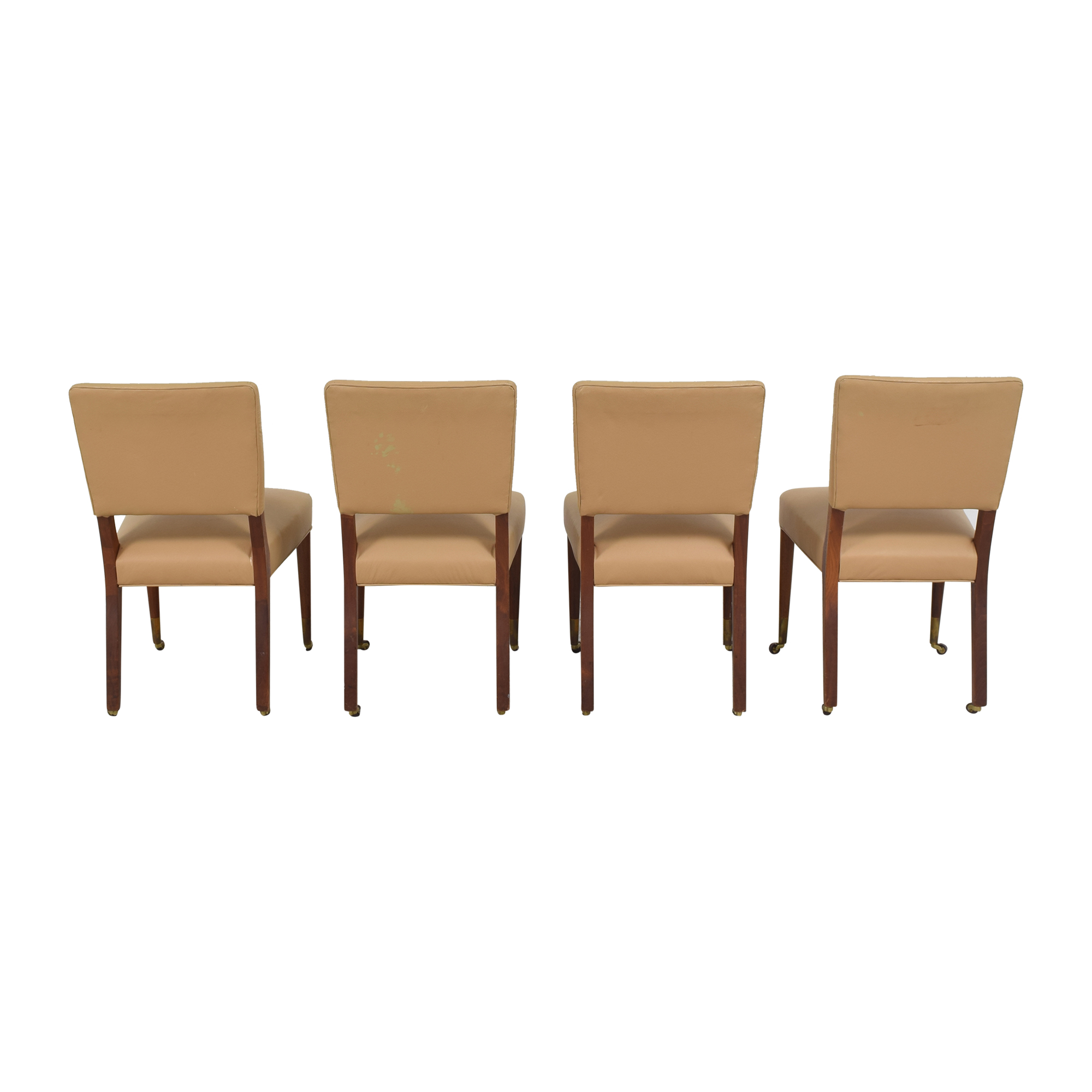 Upholstered Dining Chairs on Casters nyc