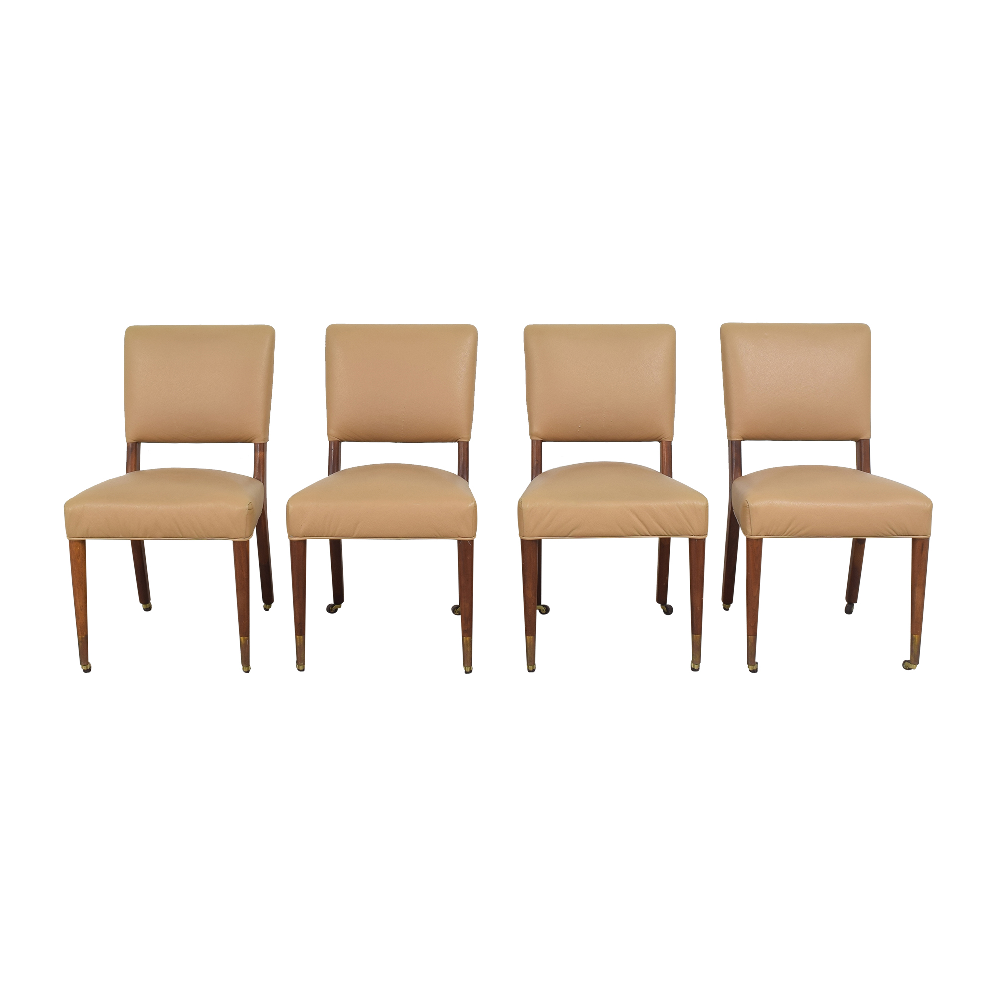 Upholstered Dining Chairs on Casters Dining Chairs