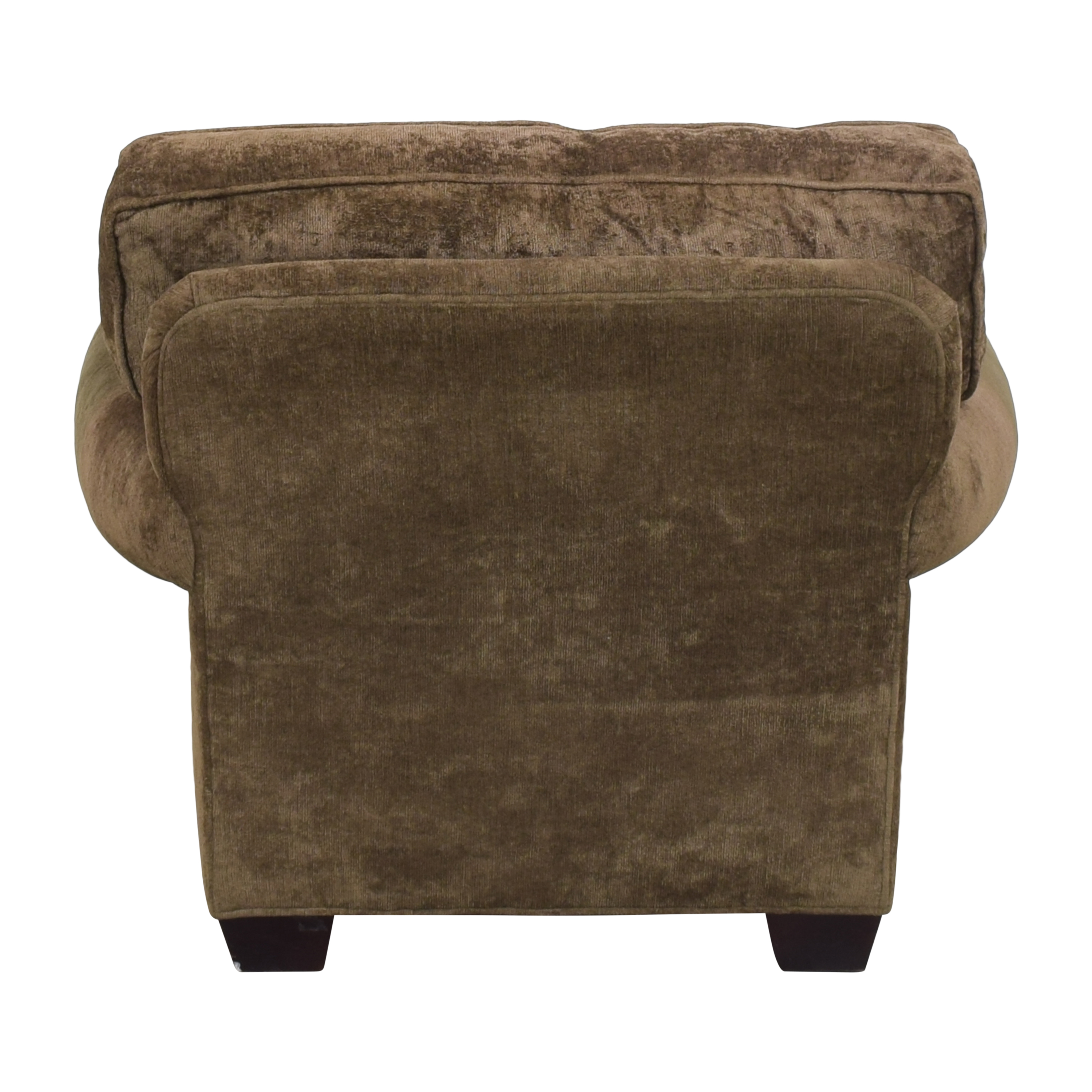 Crate & Barrel Crate & Barrel Arm Chair with Ottoman ct
