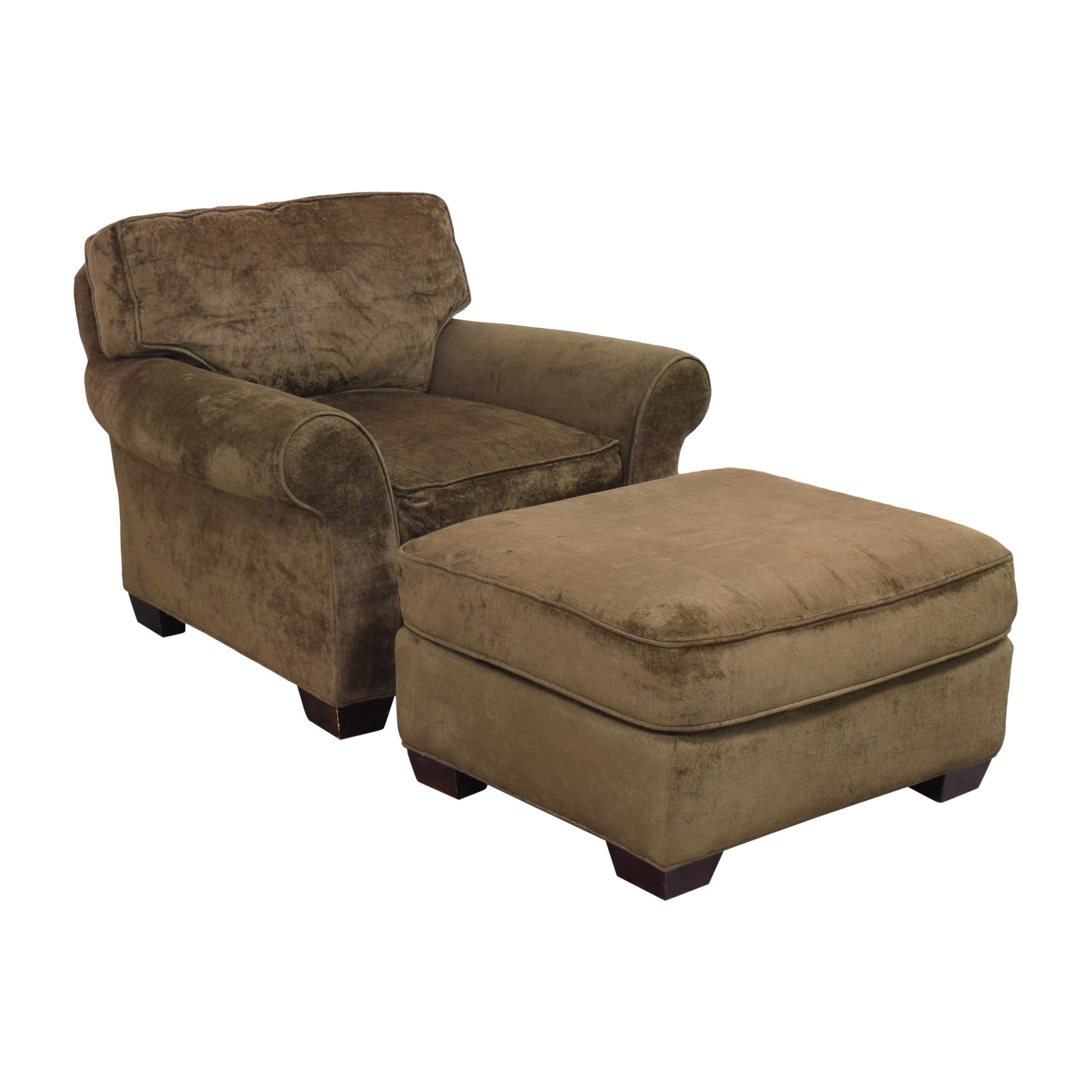 Crate & Barrel Crate & Barrel Arm Chair with Ottoman pa
