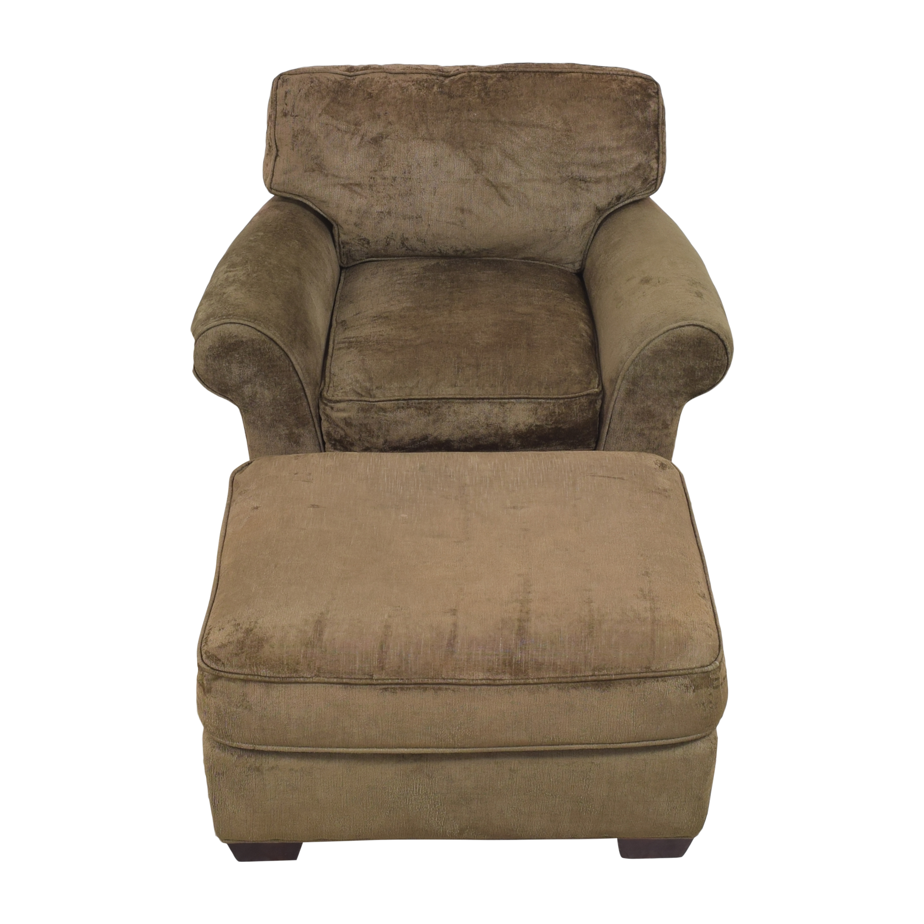 Crate & Barrel Crate & Barrel Arm Chair with Ottoman