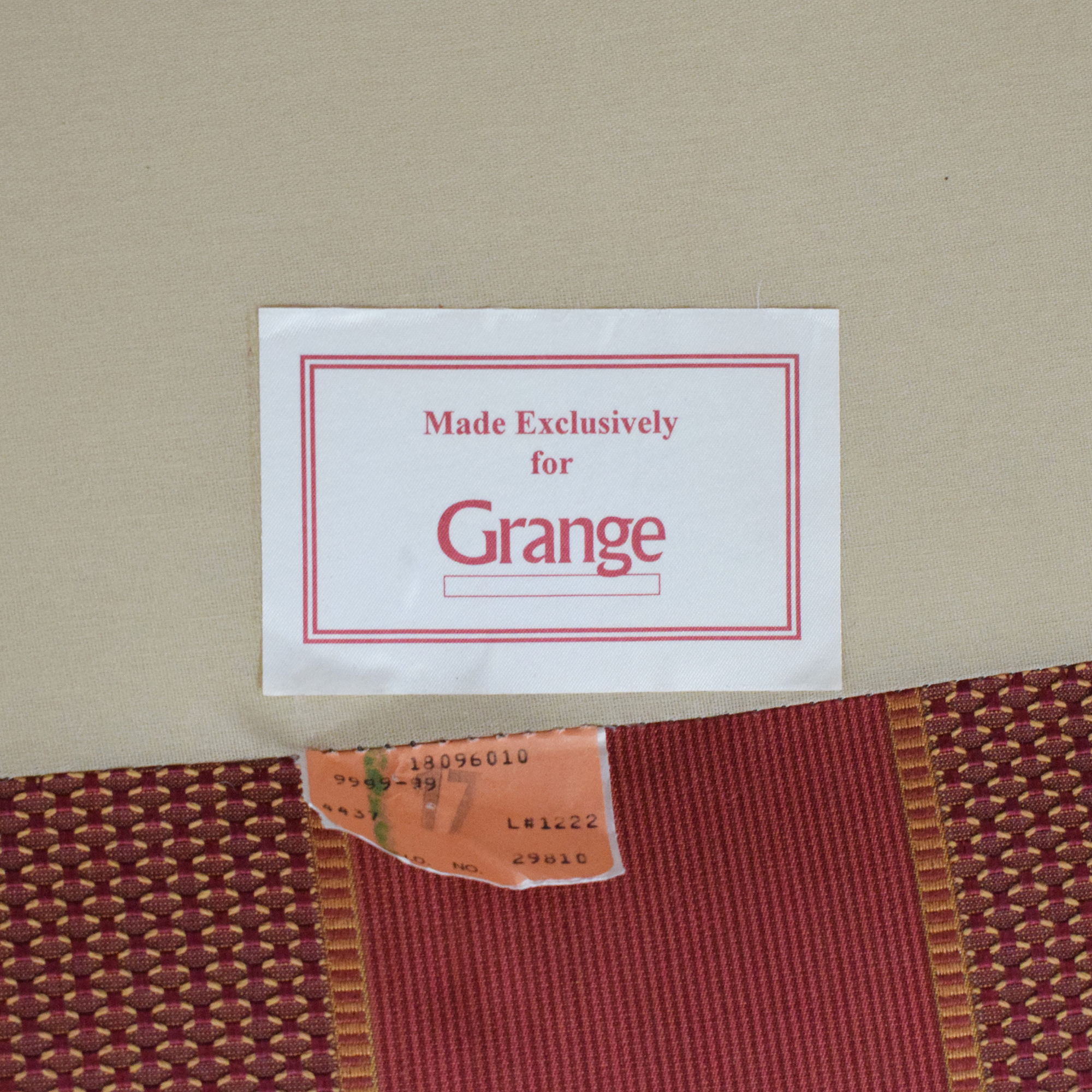 buy Grange Striped Chair with Ottoman Grange