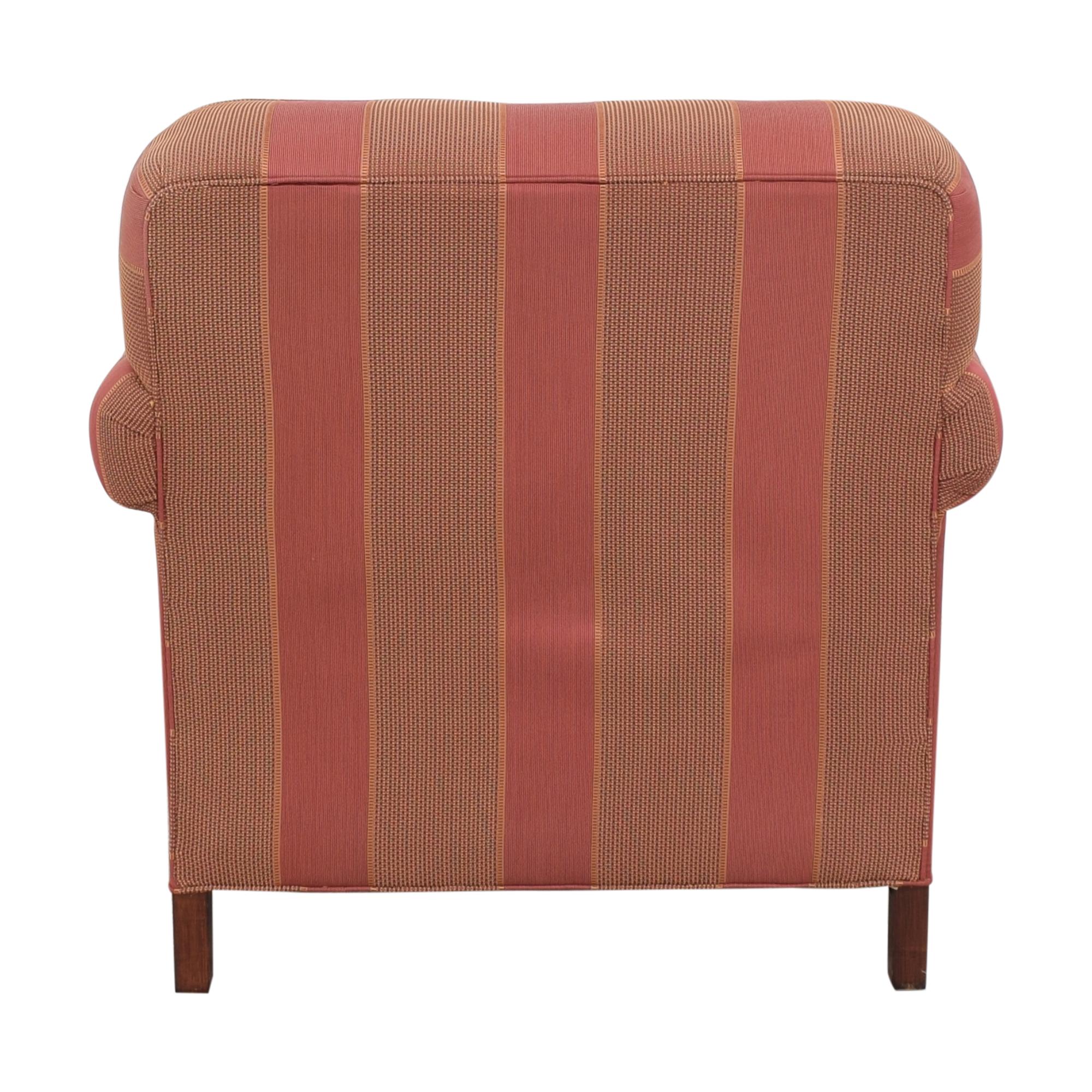 shop Grange Striped Chair with Ottoman Grange