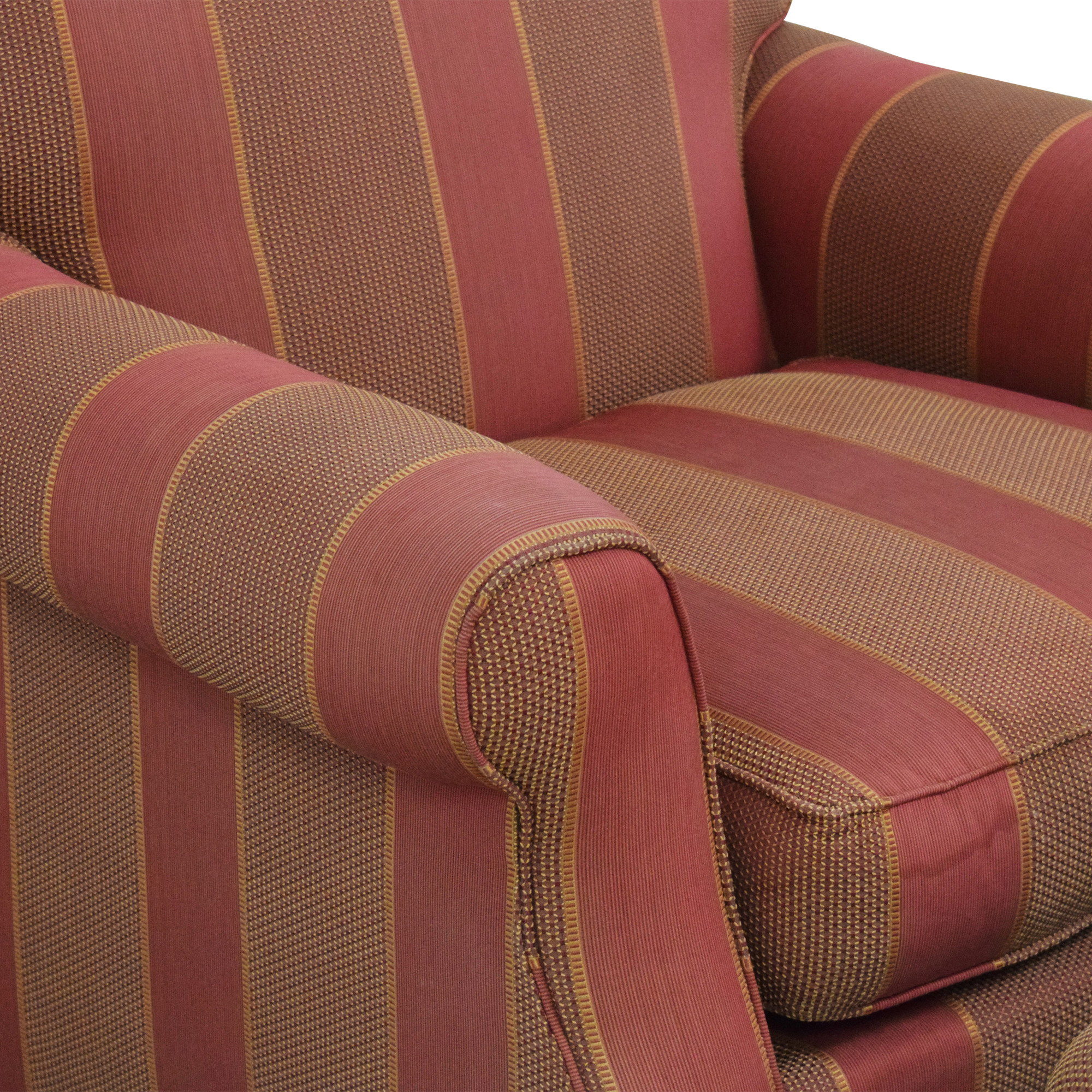 shop Grange Striped Chair with Ottoman Grange Accent Chairs