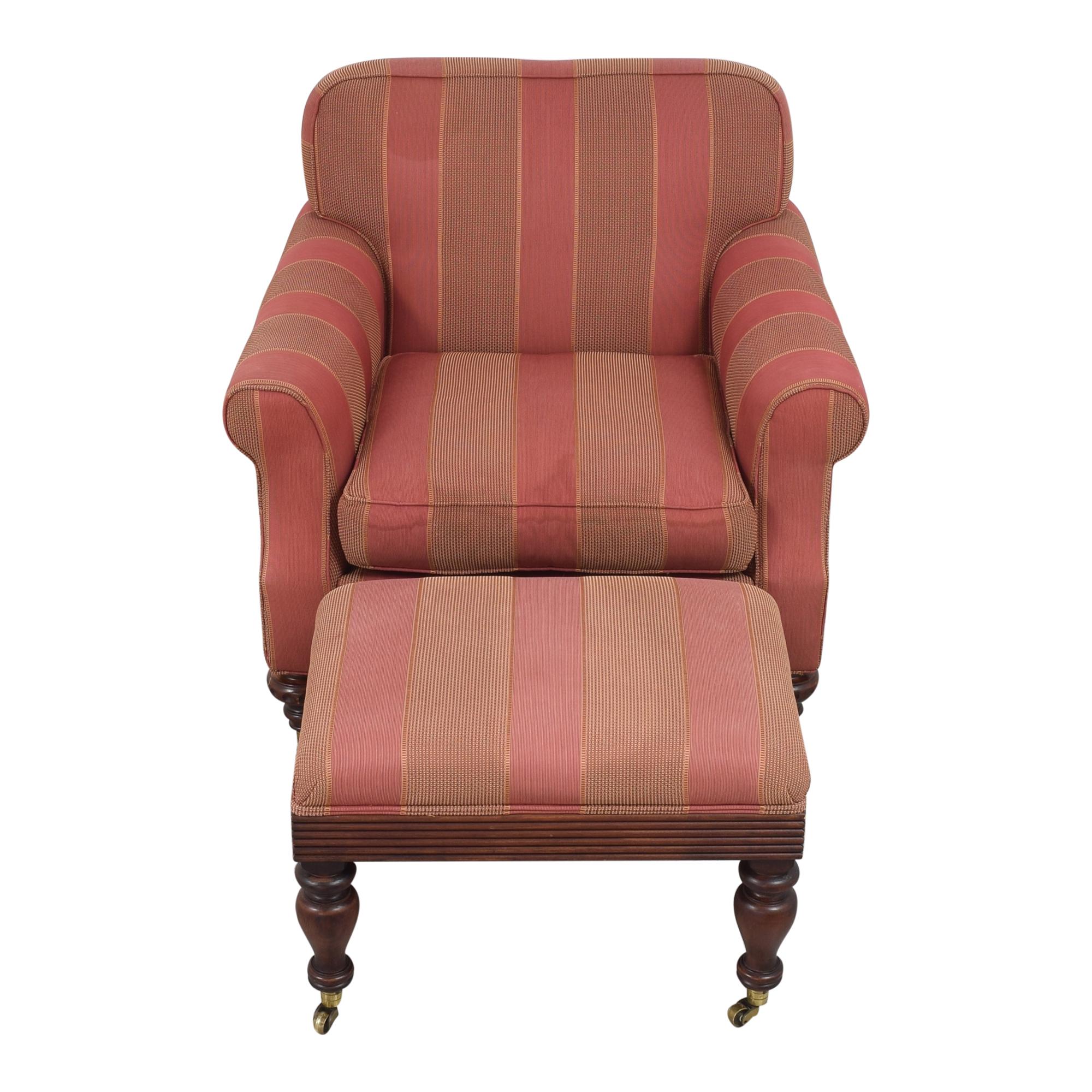 Grange Grange Striped Chair with Ottoman ct