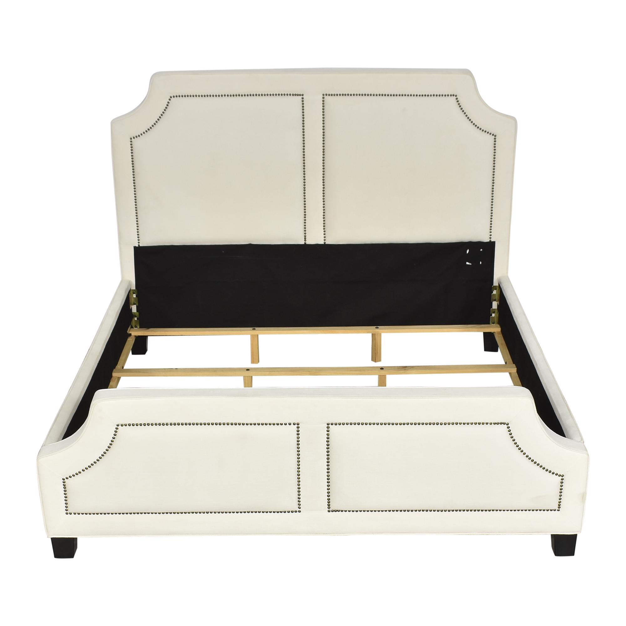 Coaster Fine Furniture Coaster Fine Furniture Upholstered Nailhead Trim King Bed