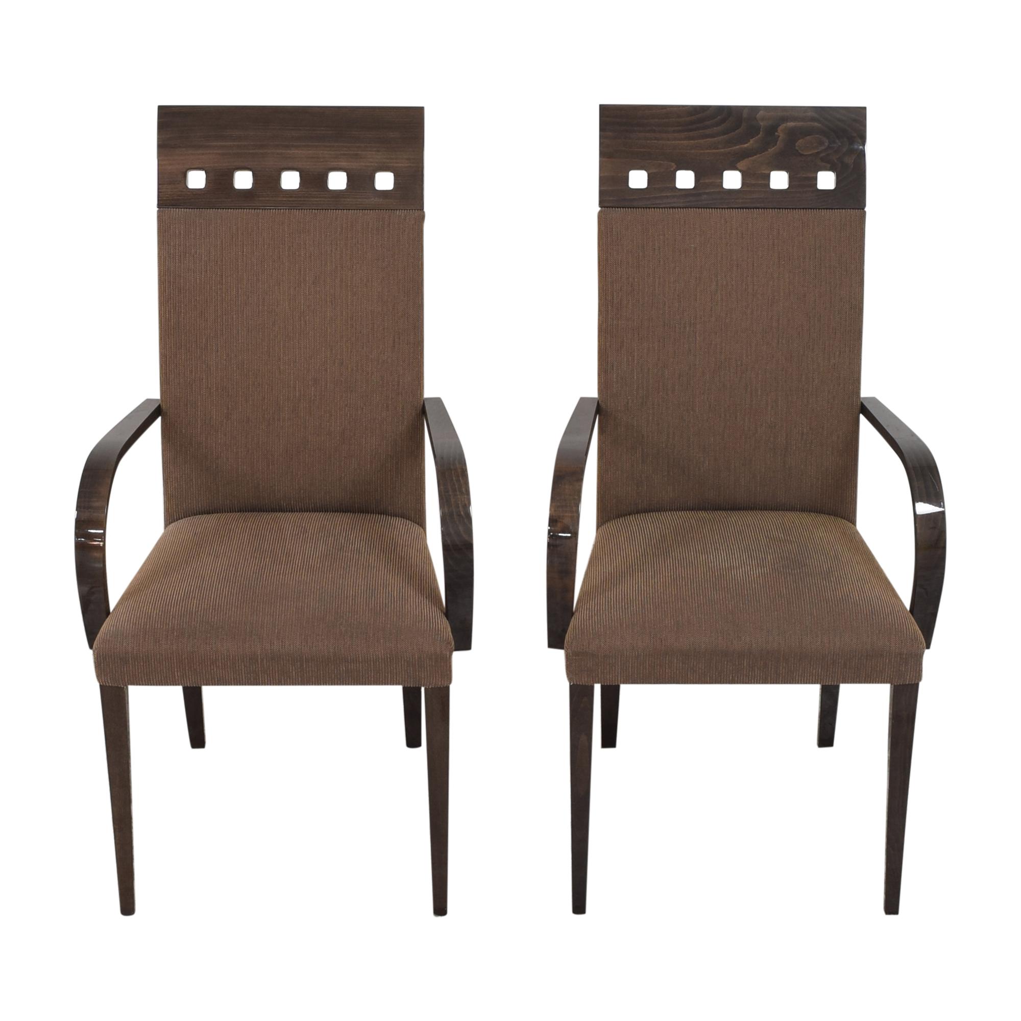Pietro Costantini Pietro Costantini High Back Dining Arm Chairs nyc