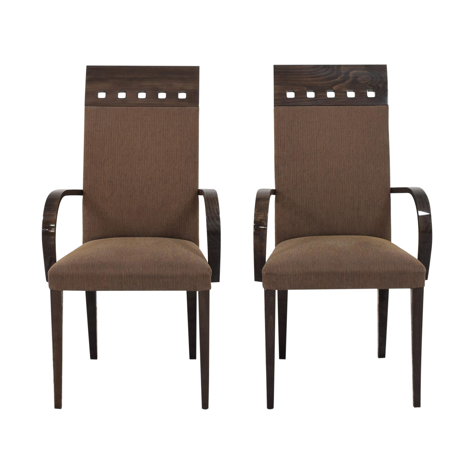 shop Pietro Costantini High Back Dining Arm Chairs Pietro Costantini Dining Chairs