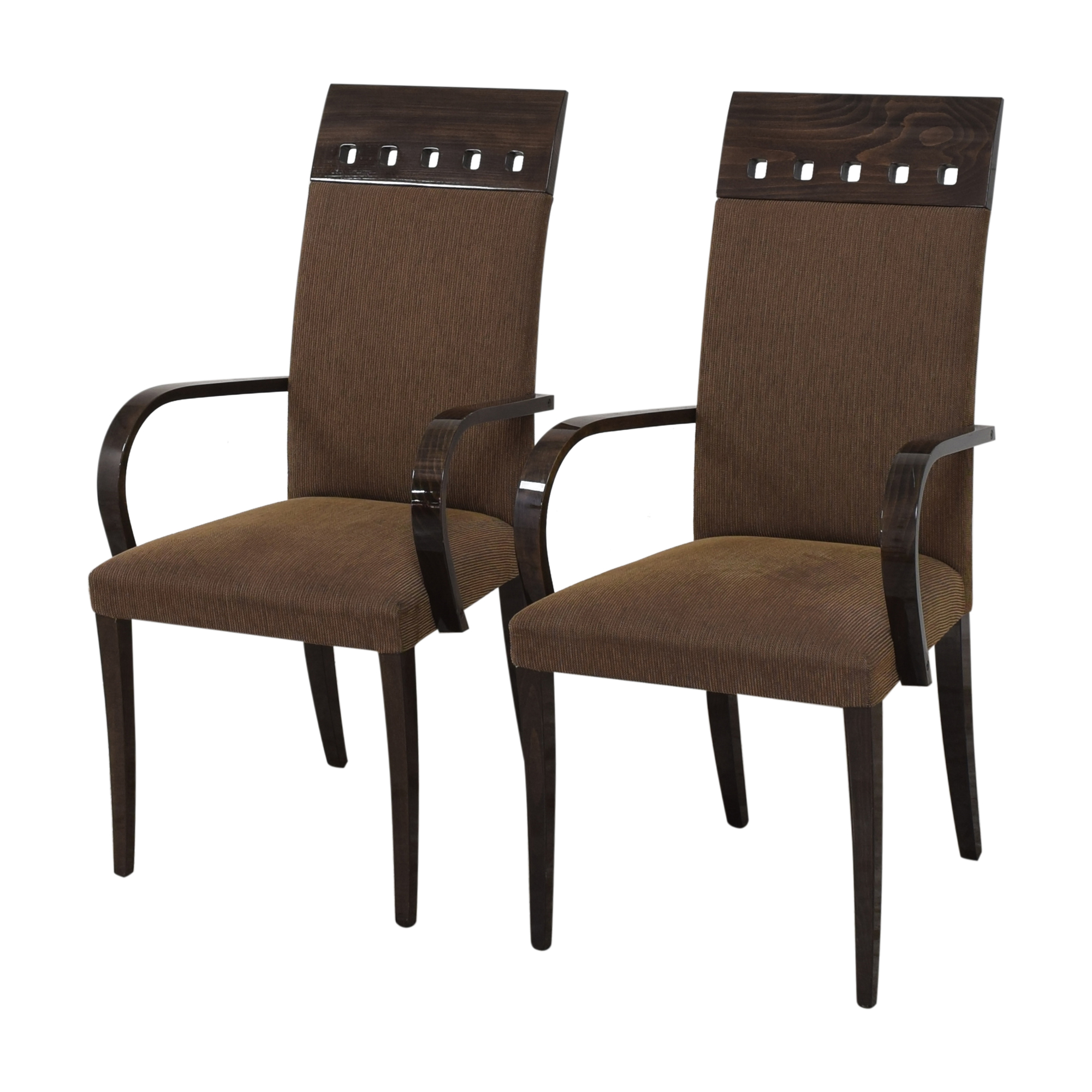 Pietro Costantini Pietro Costantini High Back Dining Arm Chairs brown