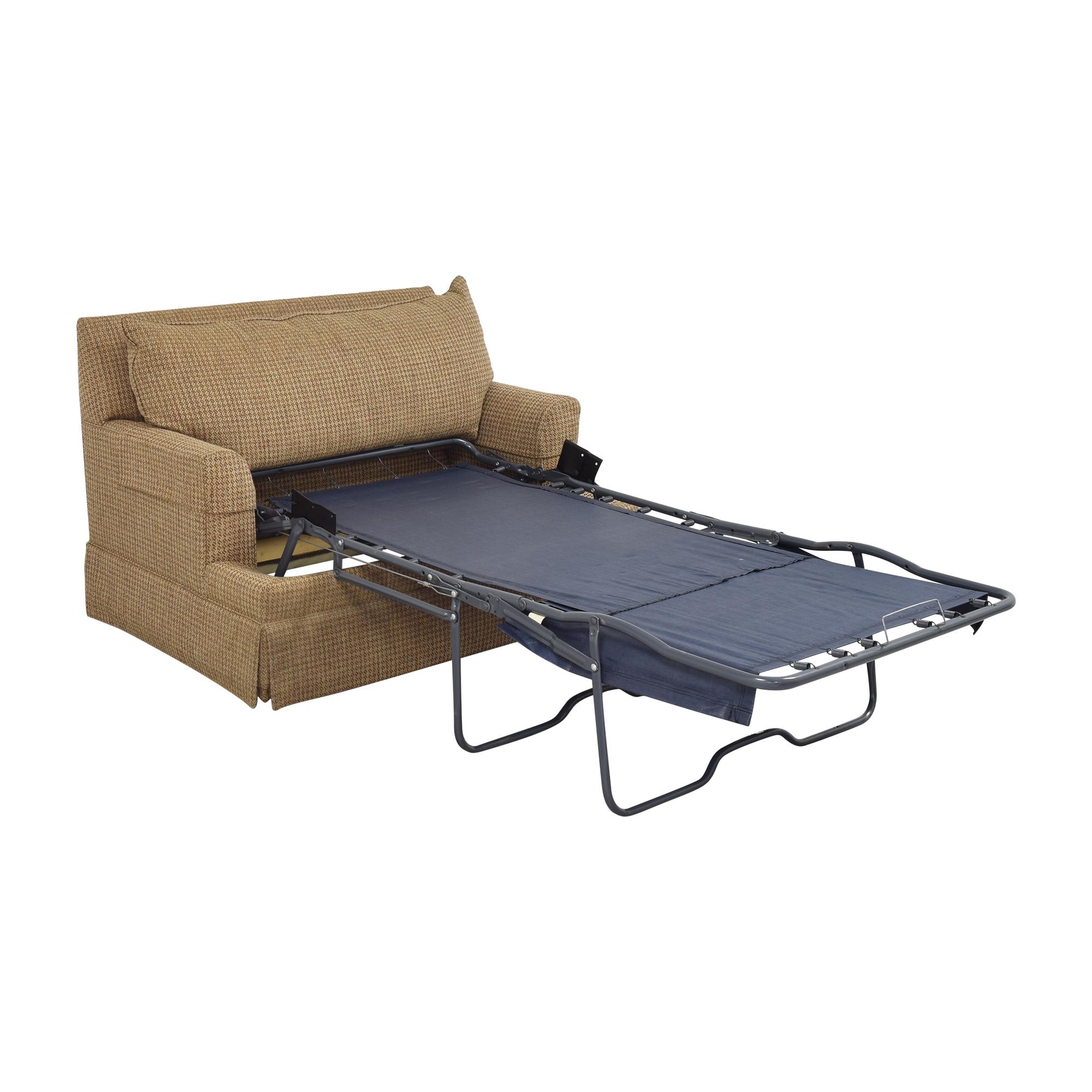 Ethan Allen Ethan Allen Chair and a Half Twin Sleeper Chairs
