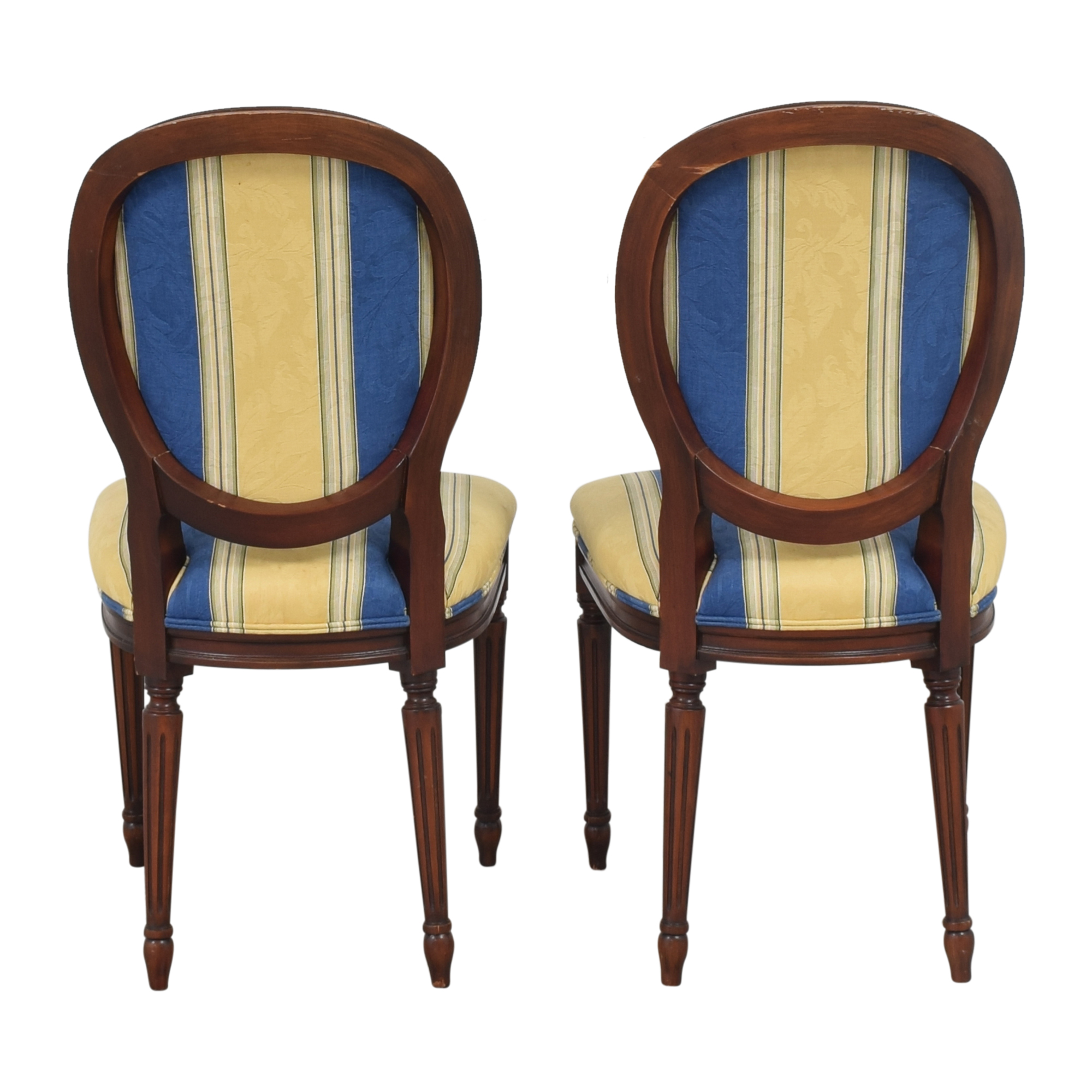 buy Calico Corners Striped Round Back Dining Side Chairs Calico