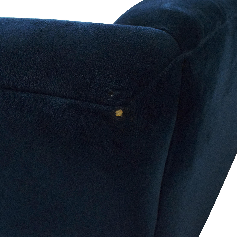 shop Macy's Lizbeth Tufted Flare Arm Sofa Macy's Sofas
