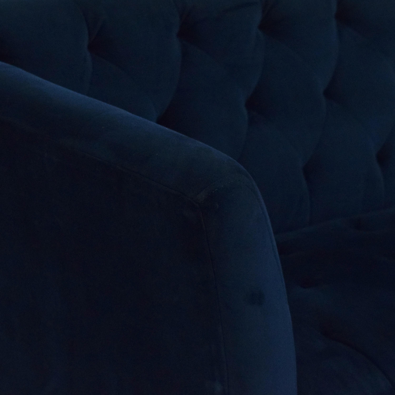 Macy's Macy's Lizbeth Tufted Flare Arm Sofa second hand