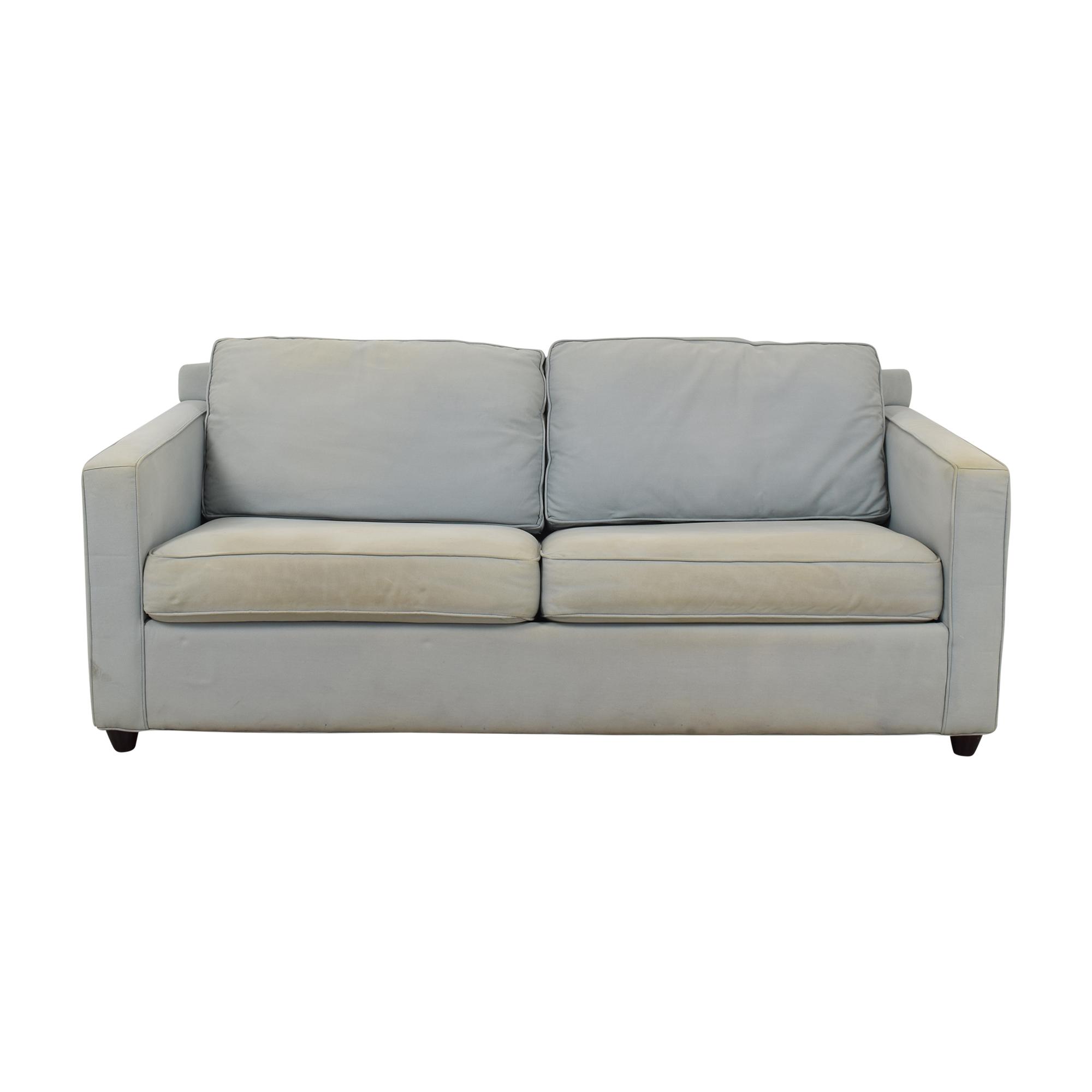 Crate & Barrel Crate & Barrel Sleeper Sofa  light blue