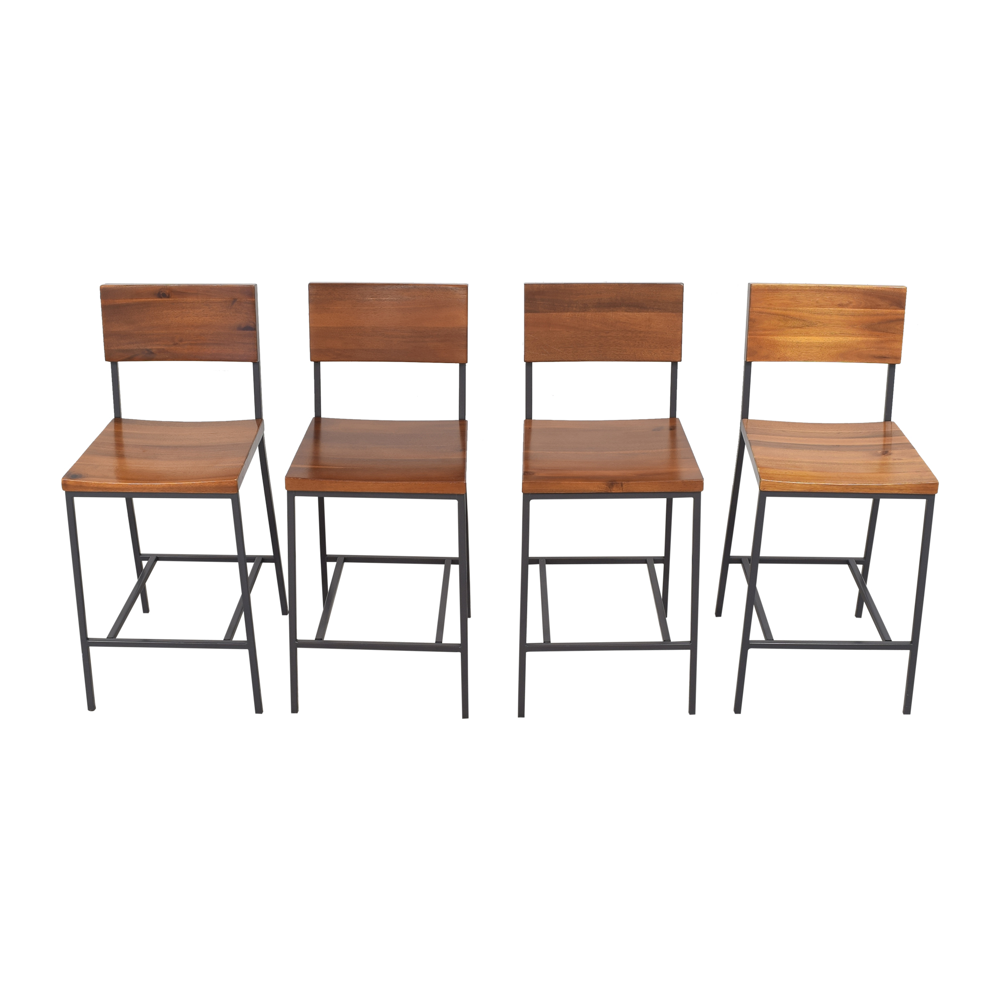 West Elm Rustic Counter Stools sale