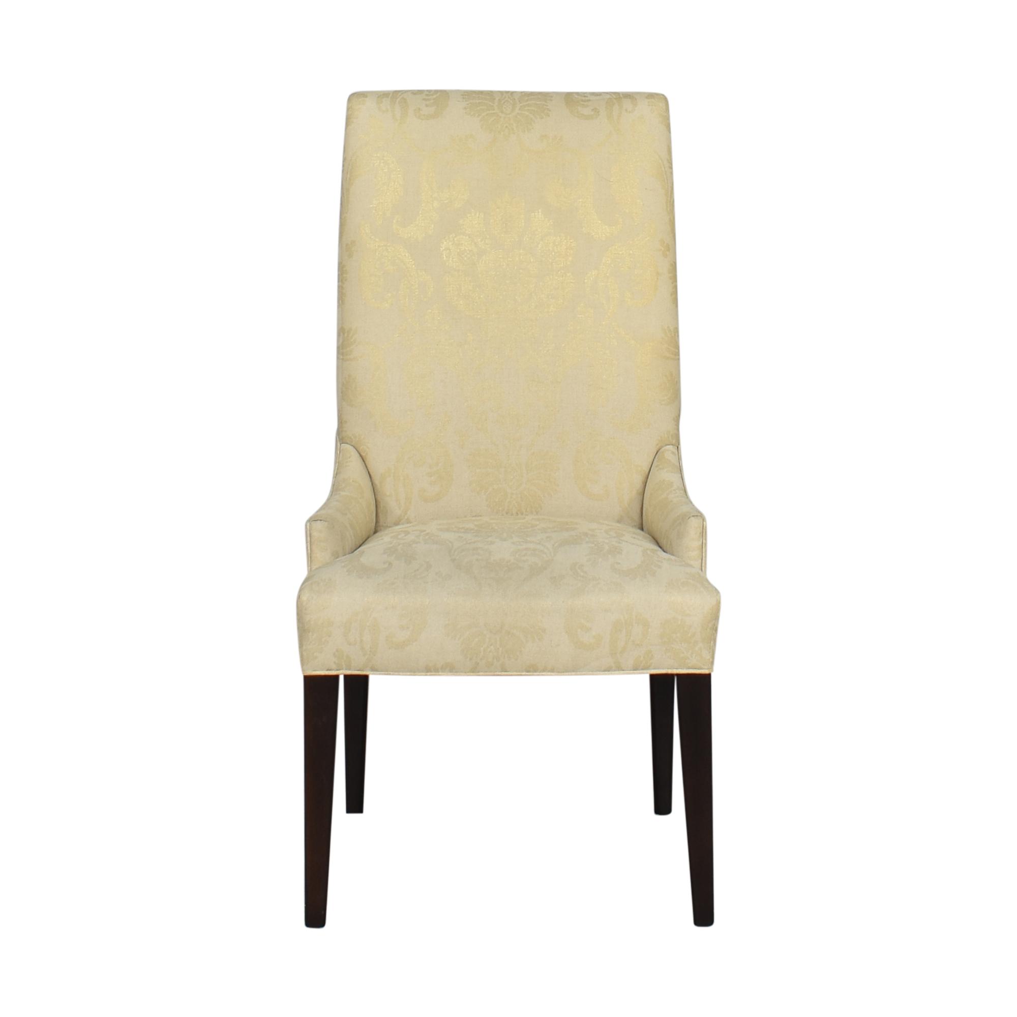 shop Arhaus Platinum High Back Dining Chair Arhaus Dining Chairs