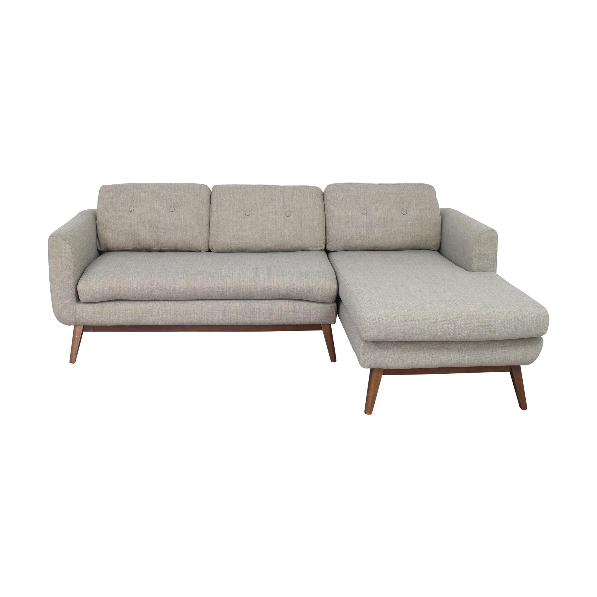 buy Wayfair Jenson Wide Sofa with Chaise Wayfair Sectionals