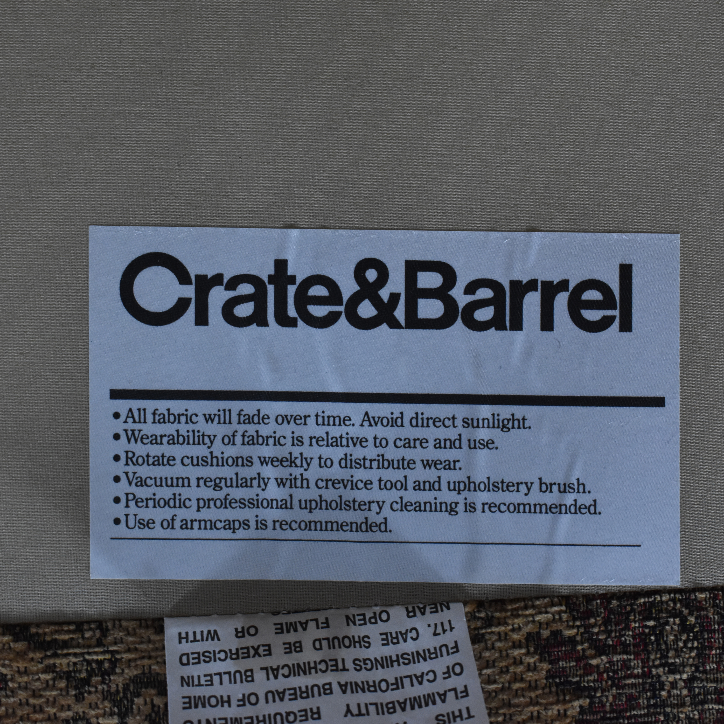 shop Crate & Barrel Upholstered Arm Chair with Ottoman Crate & Barrel Accent Chairs
