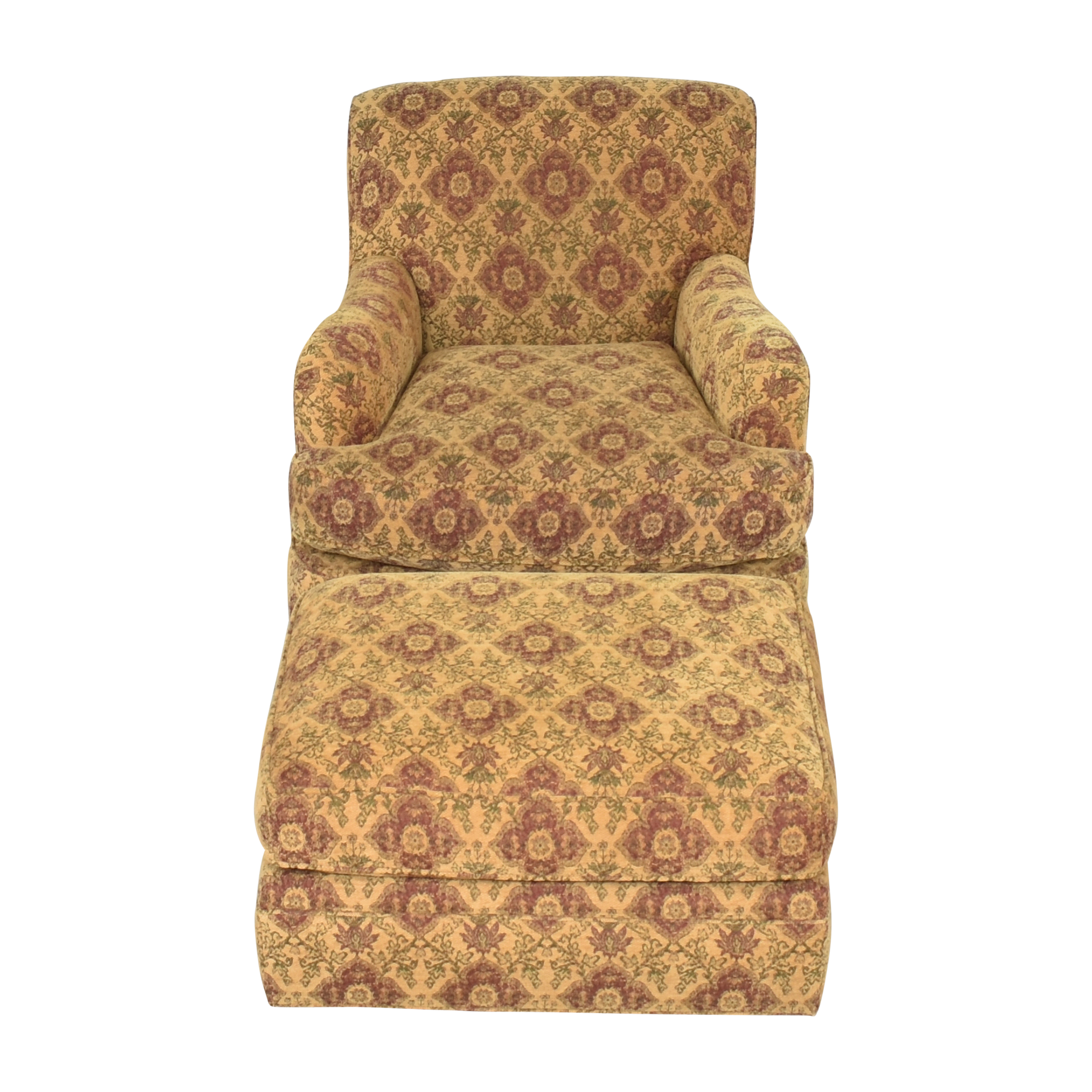 Crate & Barrel Crate & Barrel Upholstered Arm Chair with Ottoman used