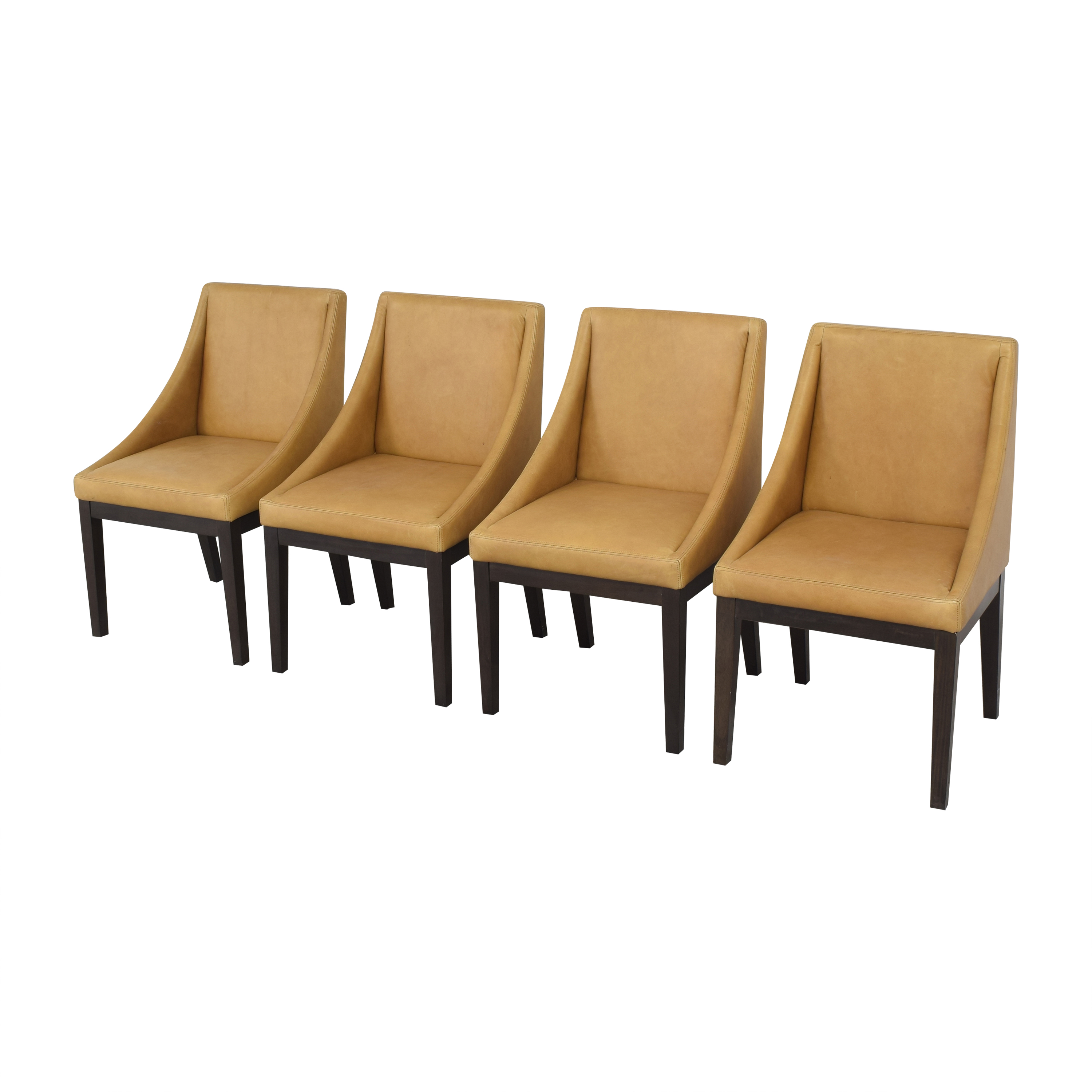 West Elm West Elm Curved Upholstered Chairs nj