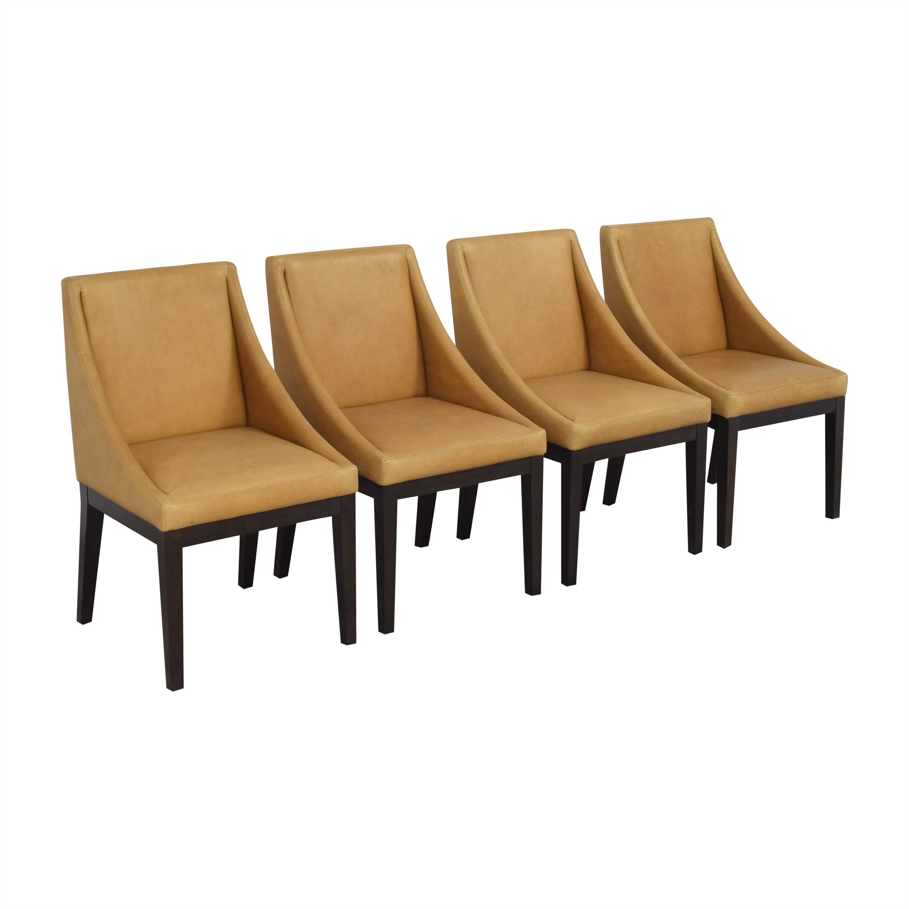West Elm West Elm Curved Upholstered Chairs ct