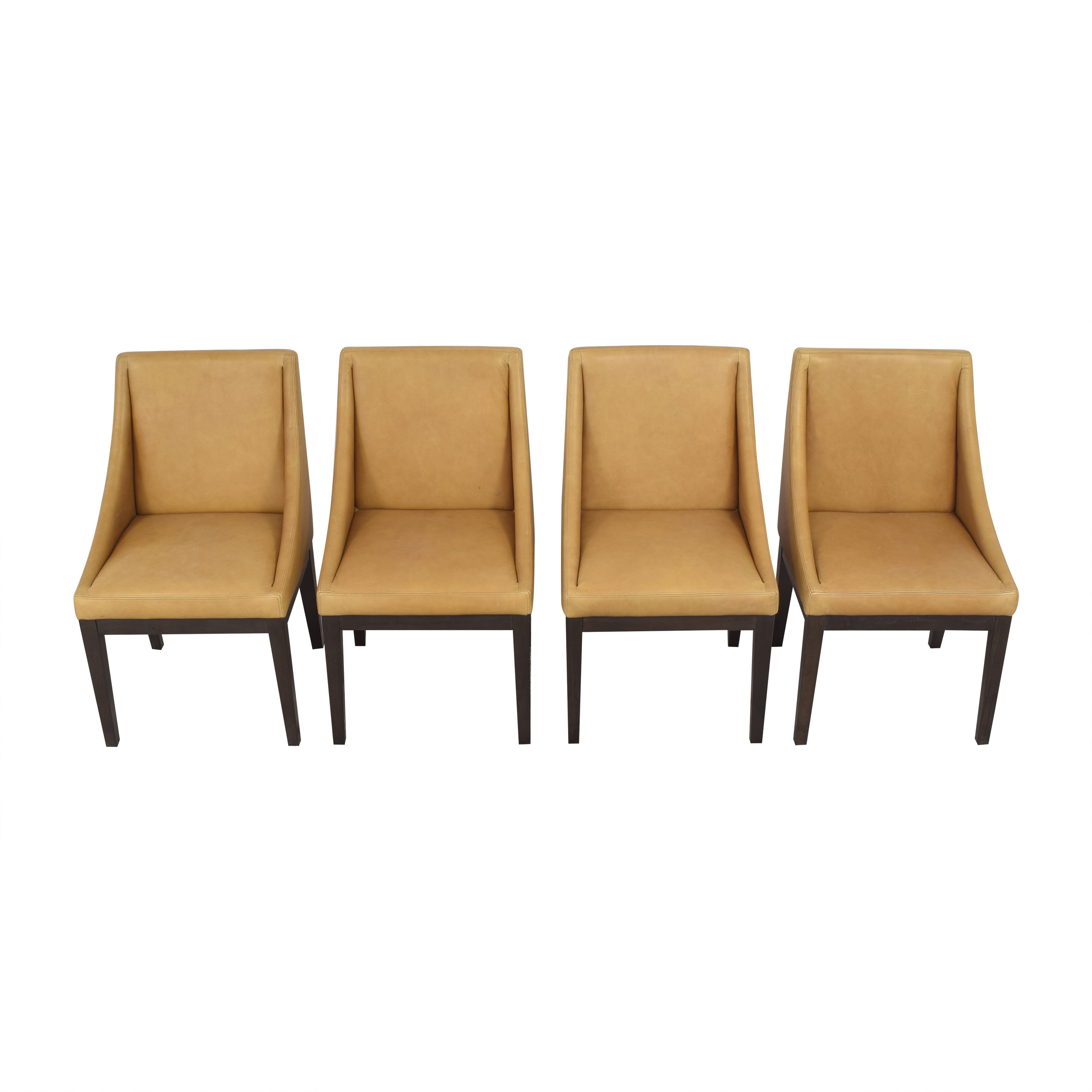 West Elm West Elm Curved Upholstered Chairs Dining Chairs