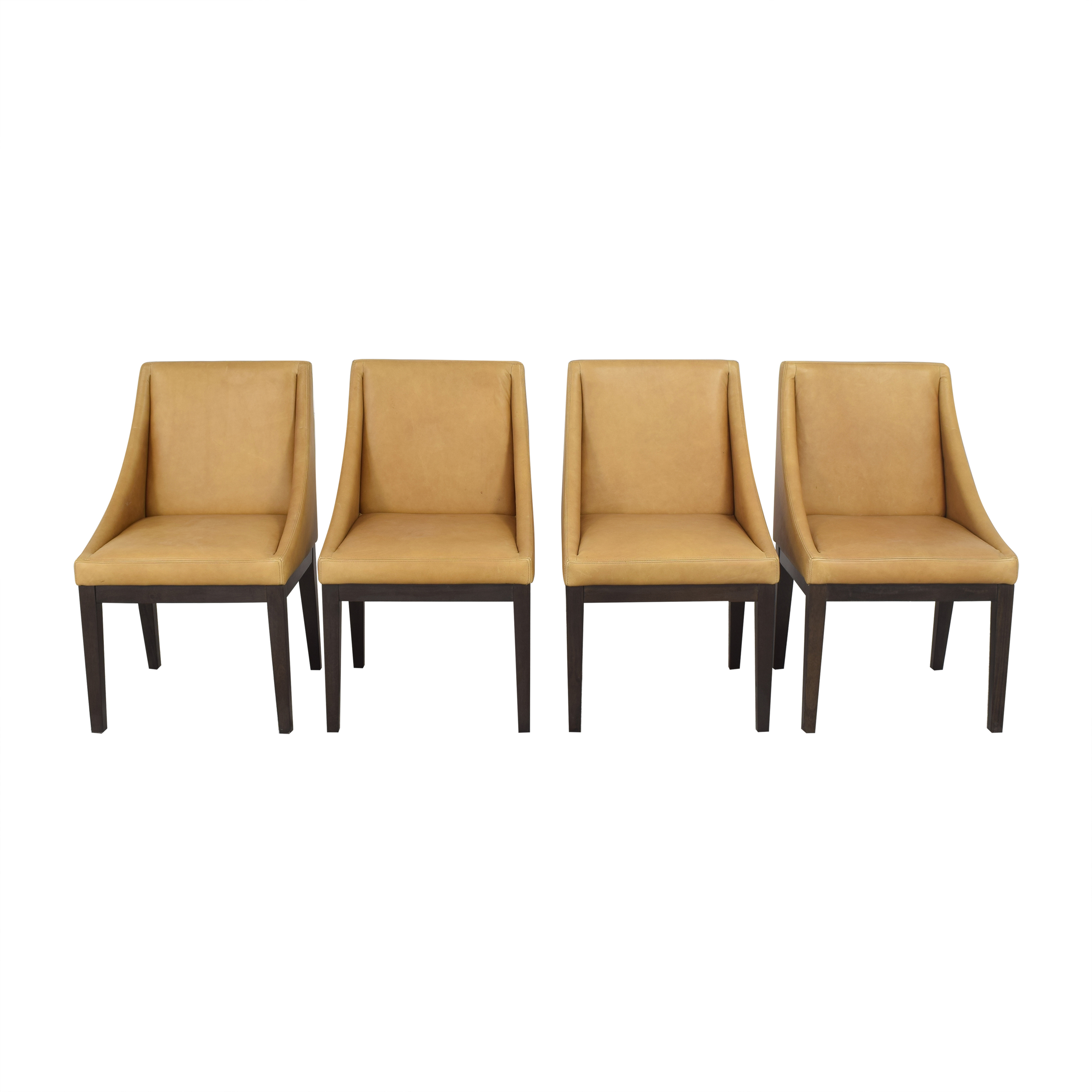 West Elm Curved Upholstered Chairs / Chairs