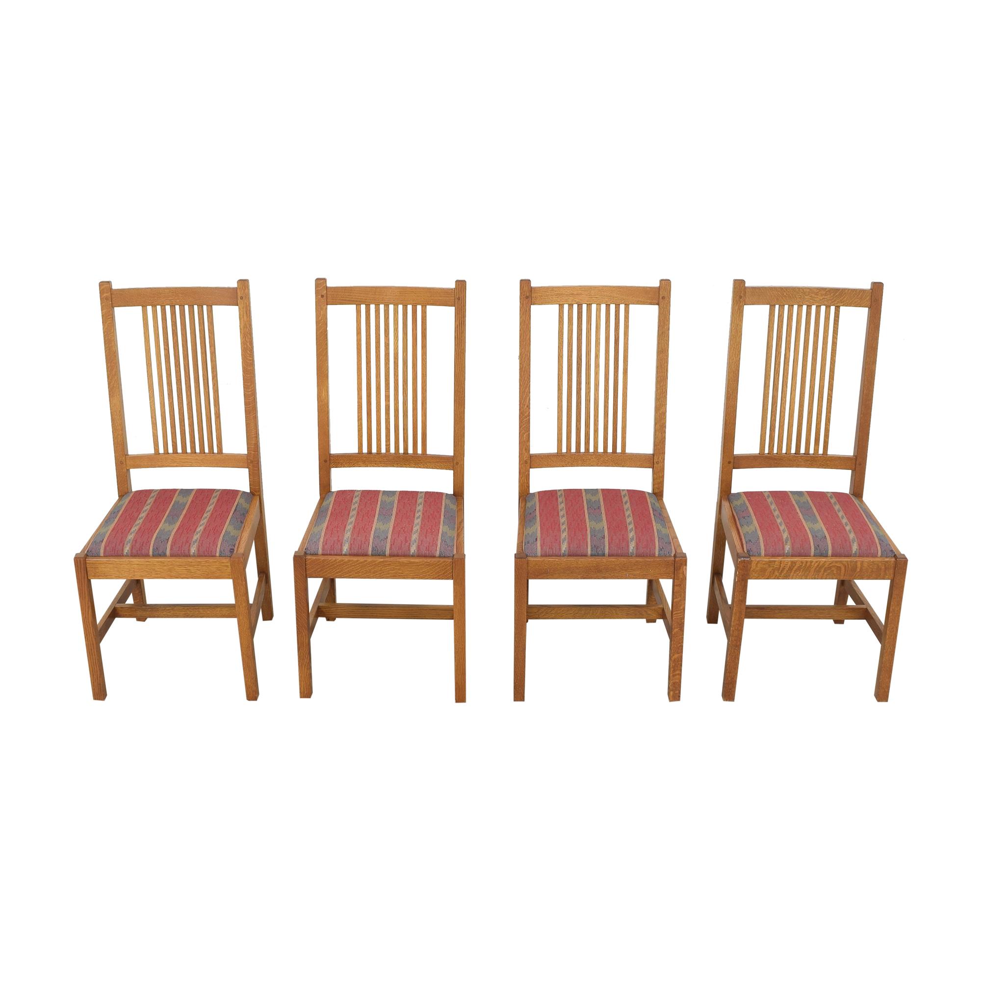 Stickley Furniture Stickley Furniture Mission Side Chairs Brown / Multi