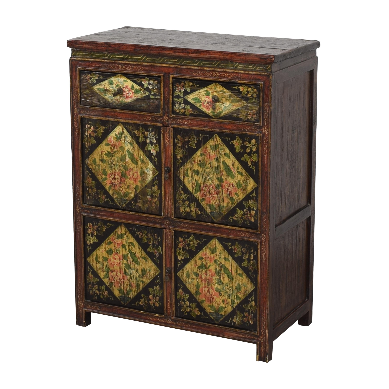 Vintage Floral Cabinet Storage