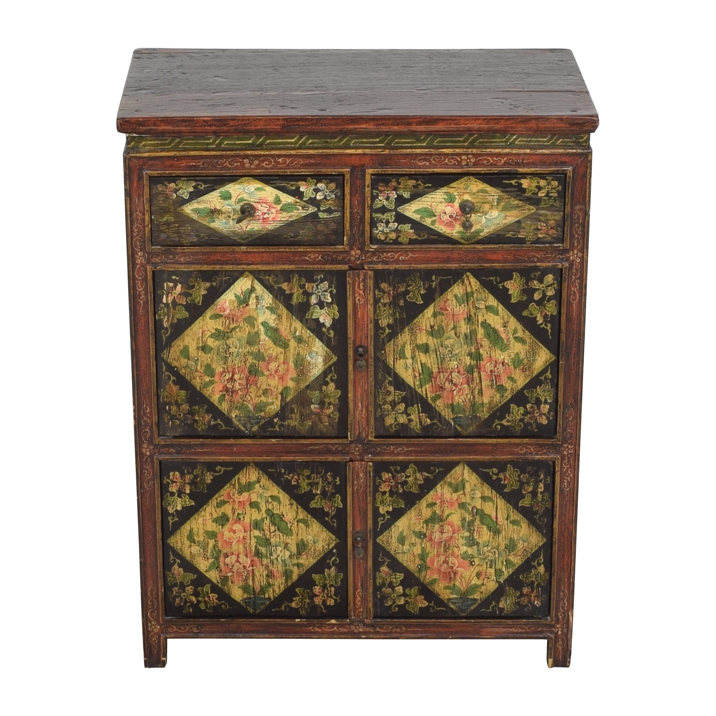 Vintage Floral Cabinet discount