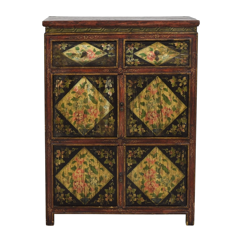 Vintage Floral Cabinet ct