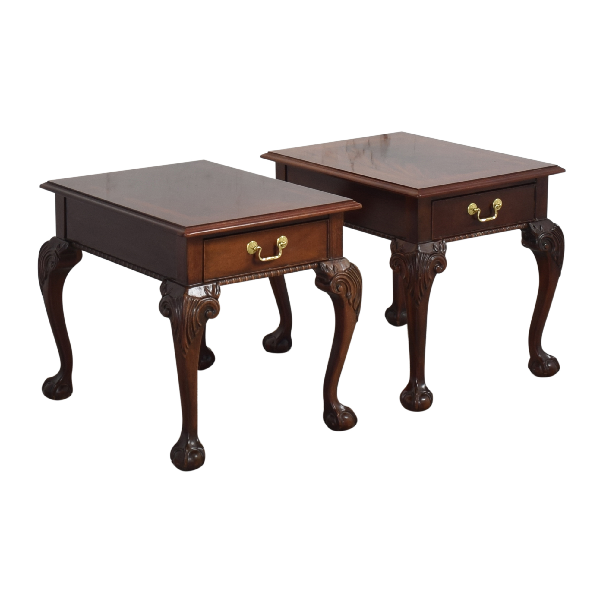 Thomasville Thomasville Queen Anne-Style Clawfoot End Tables on sale