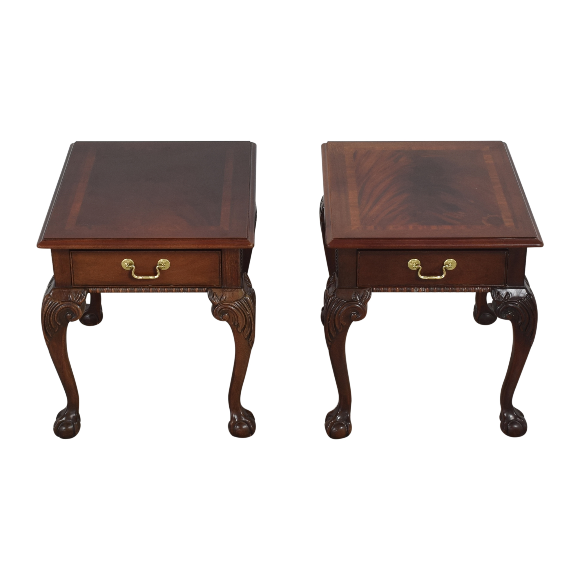 Thomasville Thomasville Queen Anne-Style Clawfoot End Tables nj