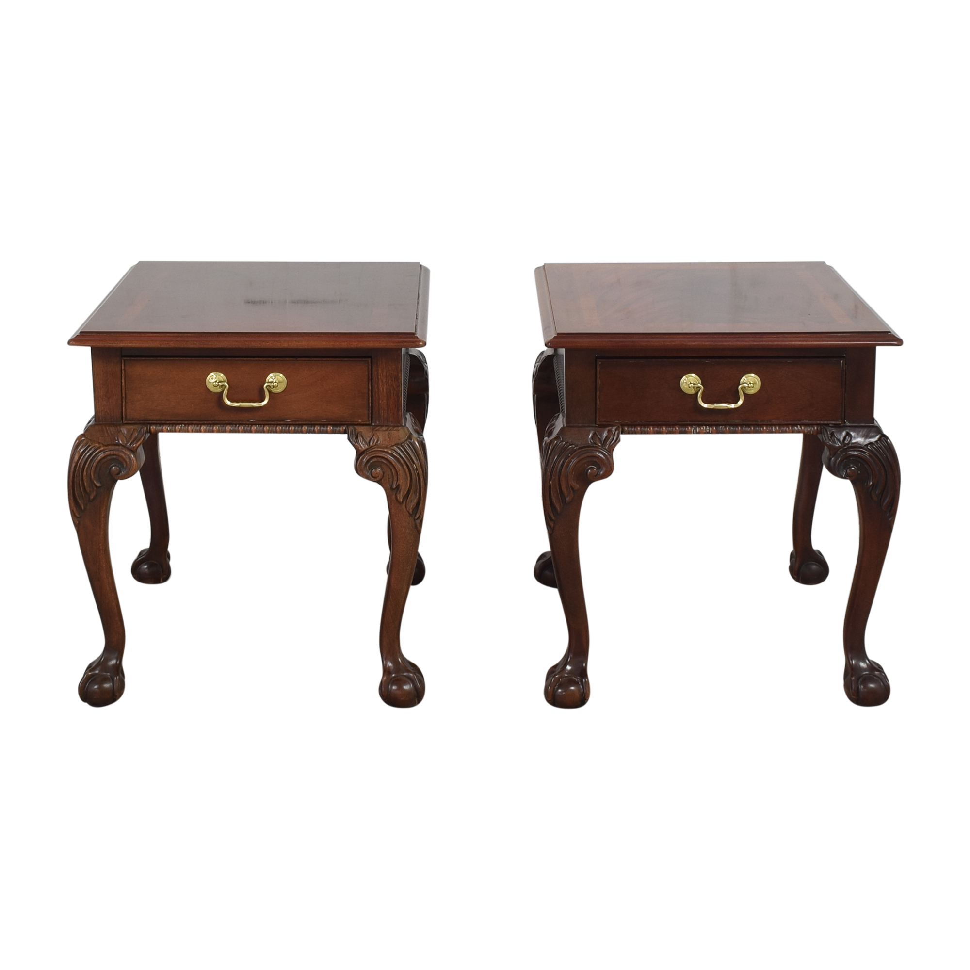 Thomasville Thomasville Queen Anne-Style Clawfoot End Tables nyc