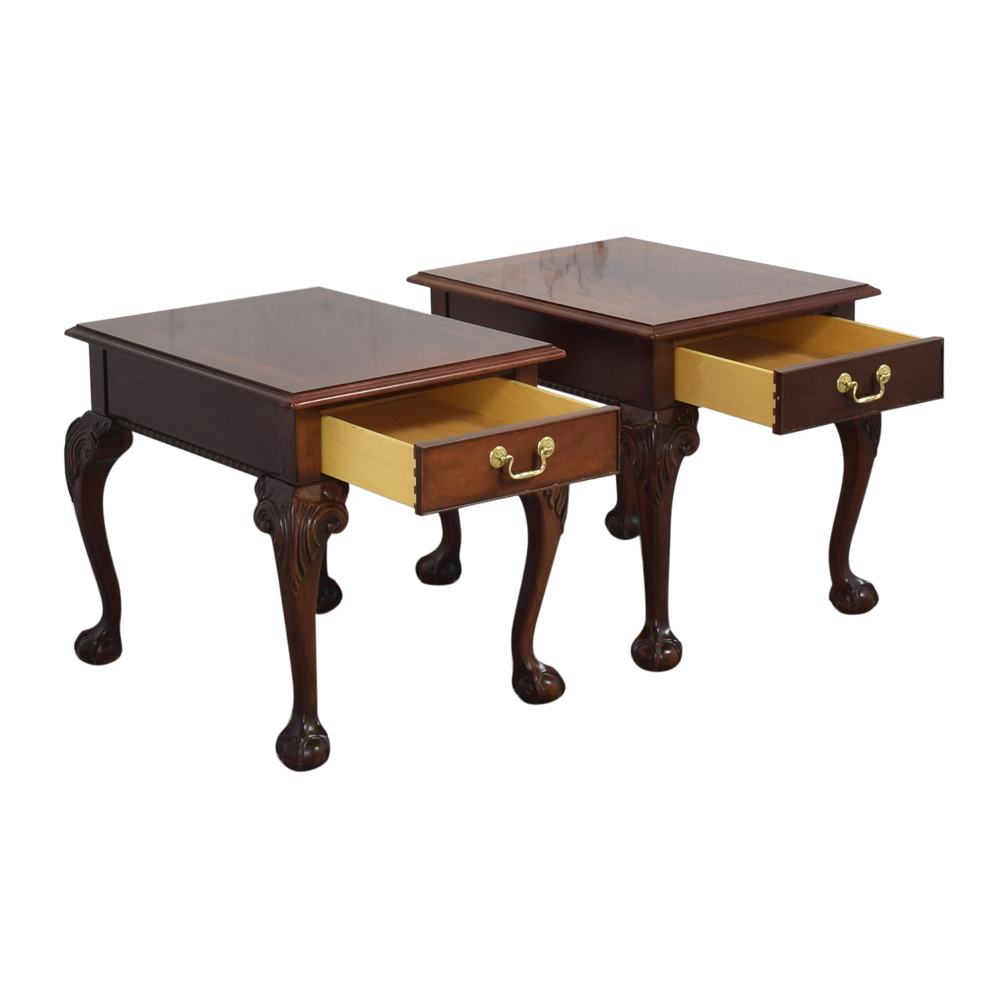 Thomasville Thomasville Queen Anne-Style Clawfoot End Tables