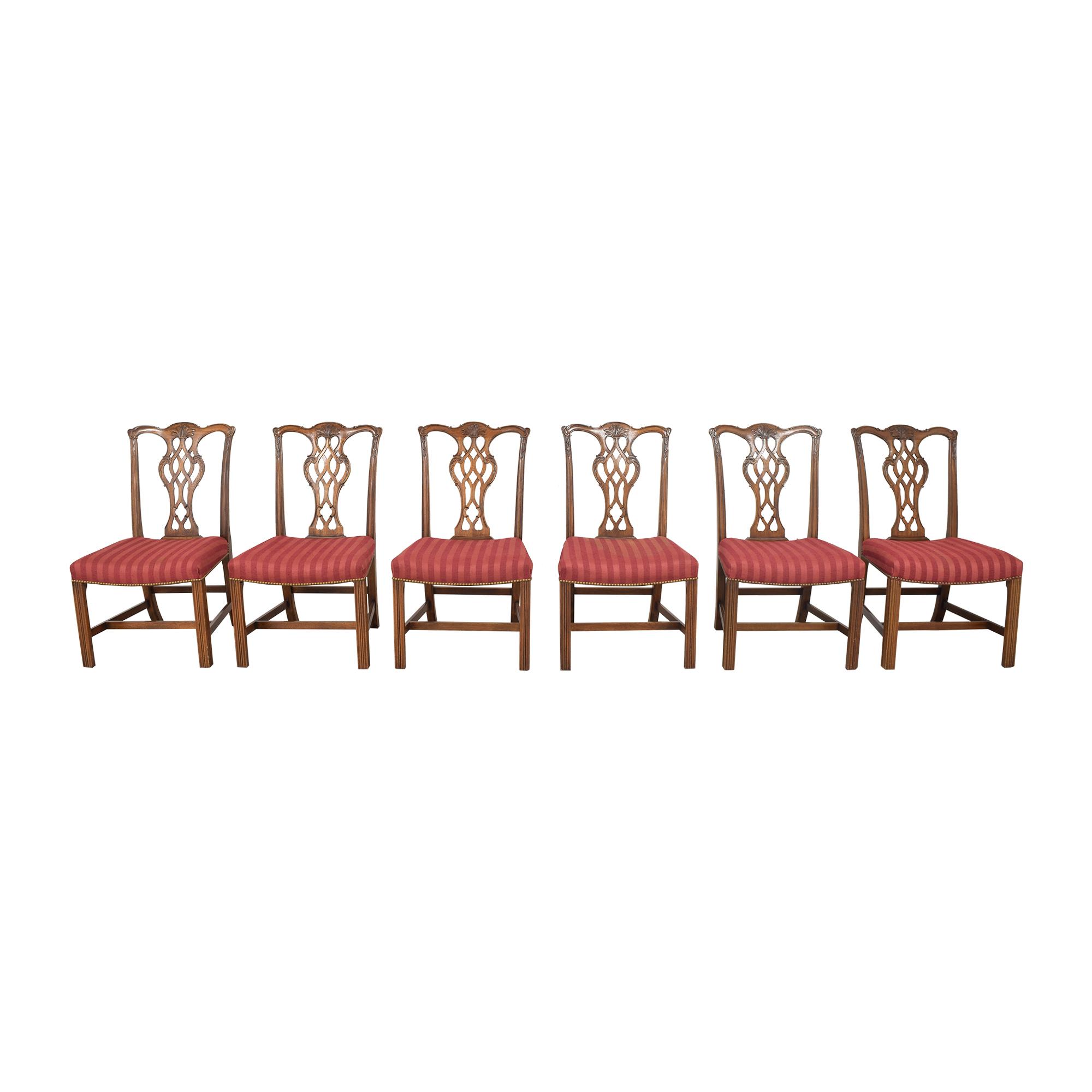 John Widdicomb Co. John Widdicomb Co. Chippendale Style Dining chairs ma